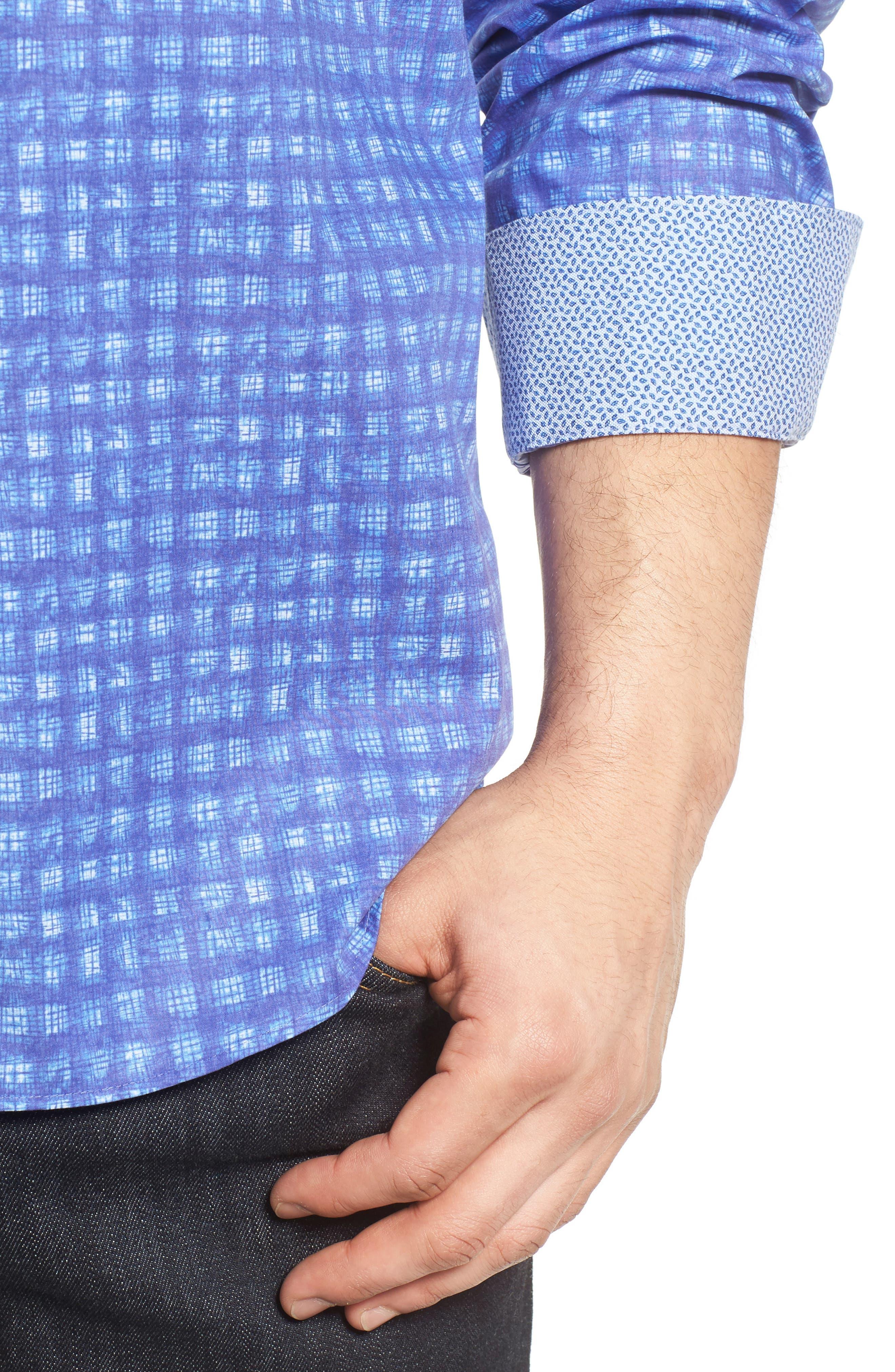 Classic Fit Sport Shirt,                             Alternate thumbnail 4, color,                             408