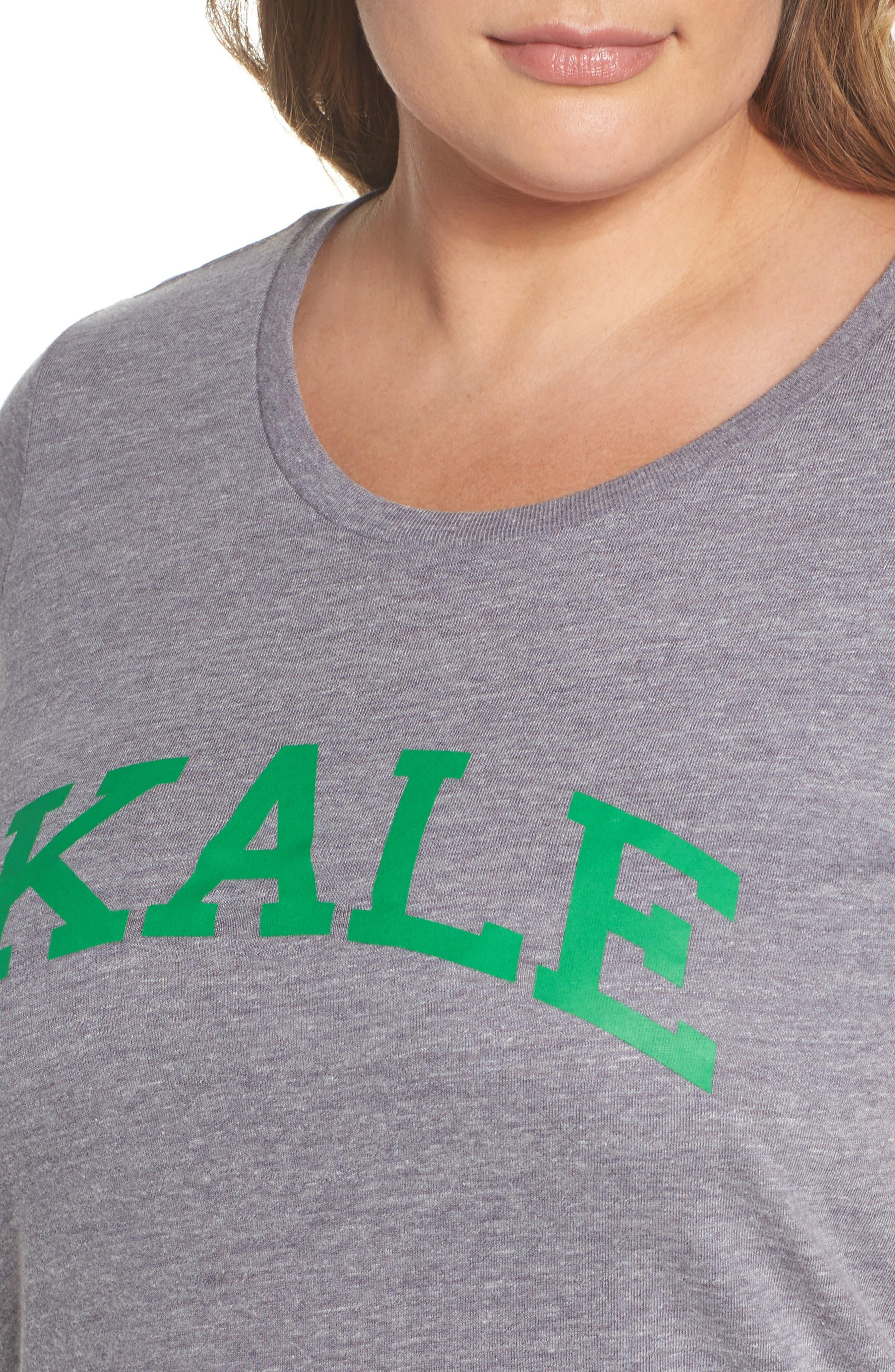 Kale Graphic Tee,                             Alternate thumbnail 4, color,                             050