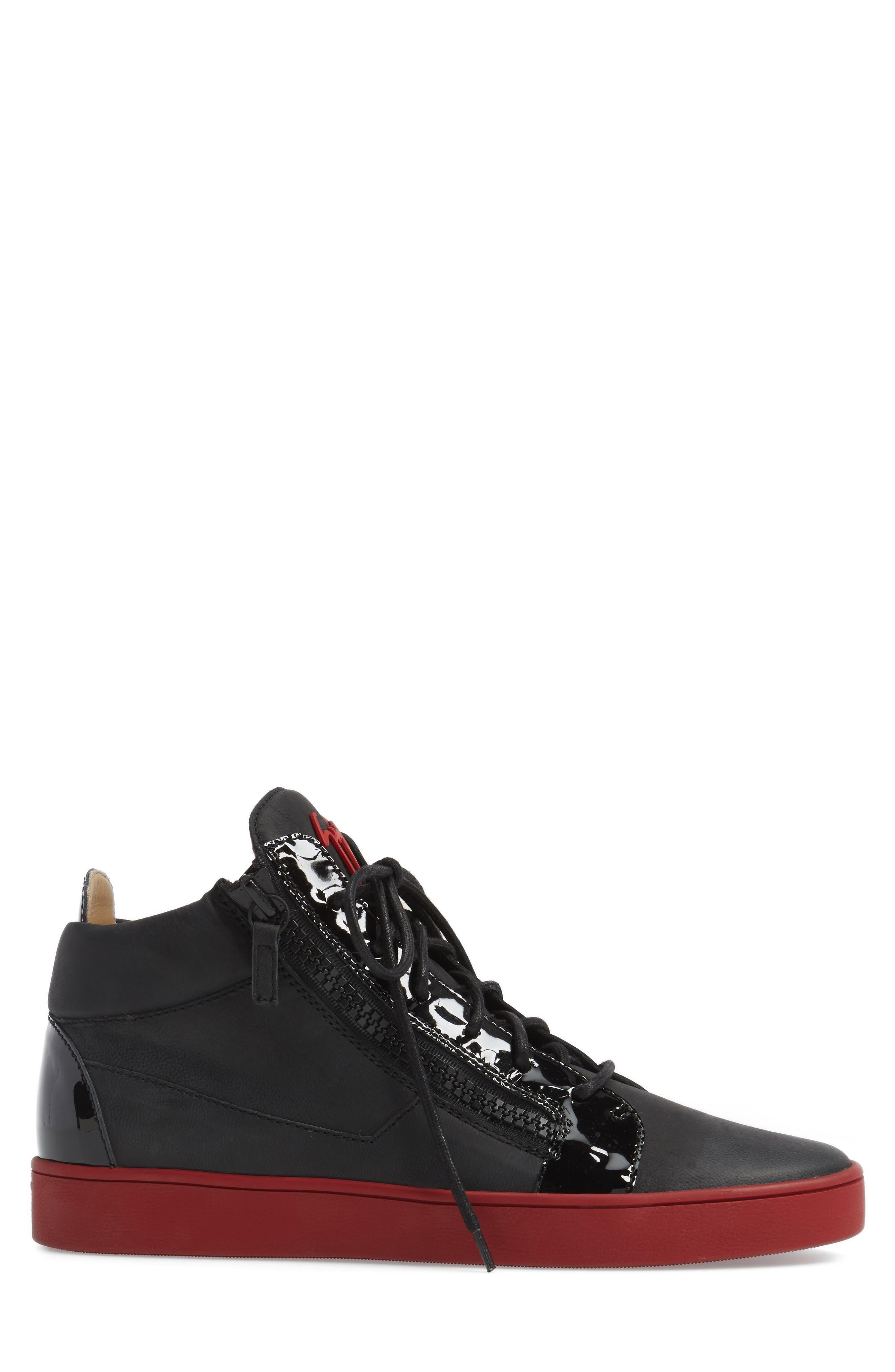 Mid Top Sneaker,                             Alternate thumbnail 3, color,                             001