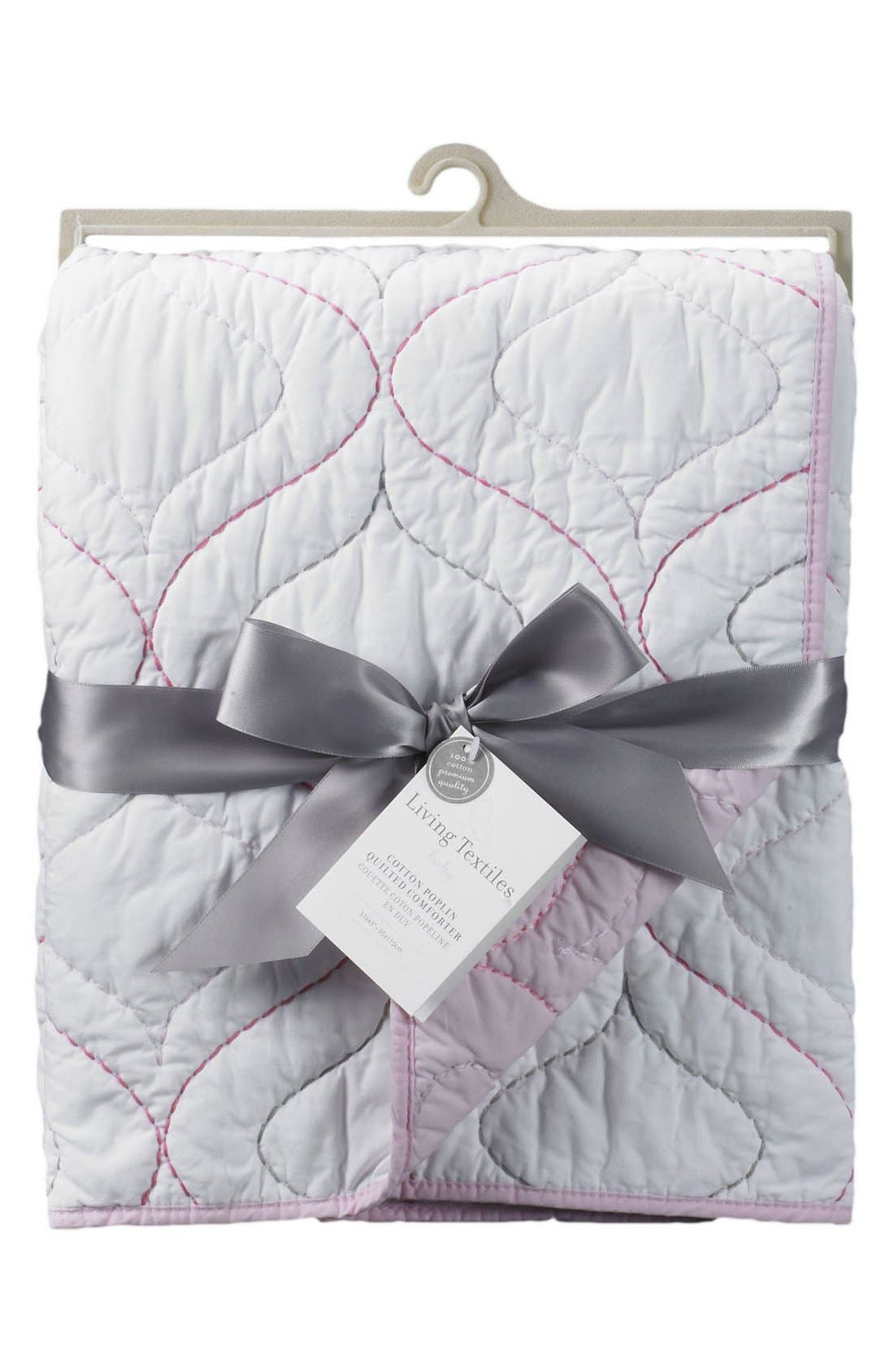 Poplin Quilted Comforter,                             Main thumbnail 1, color,                             100