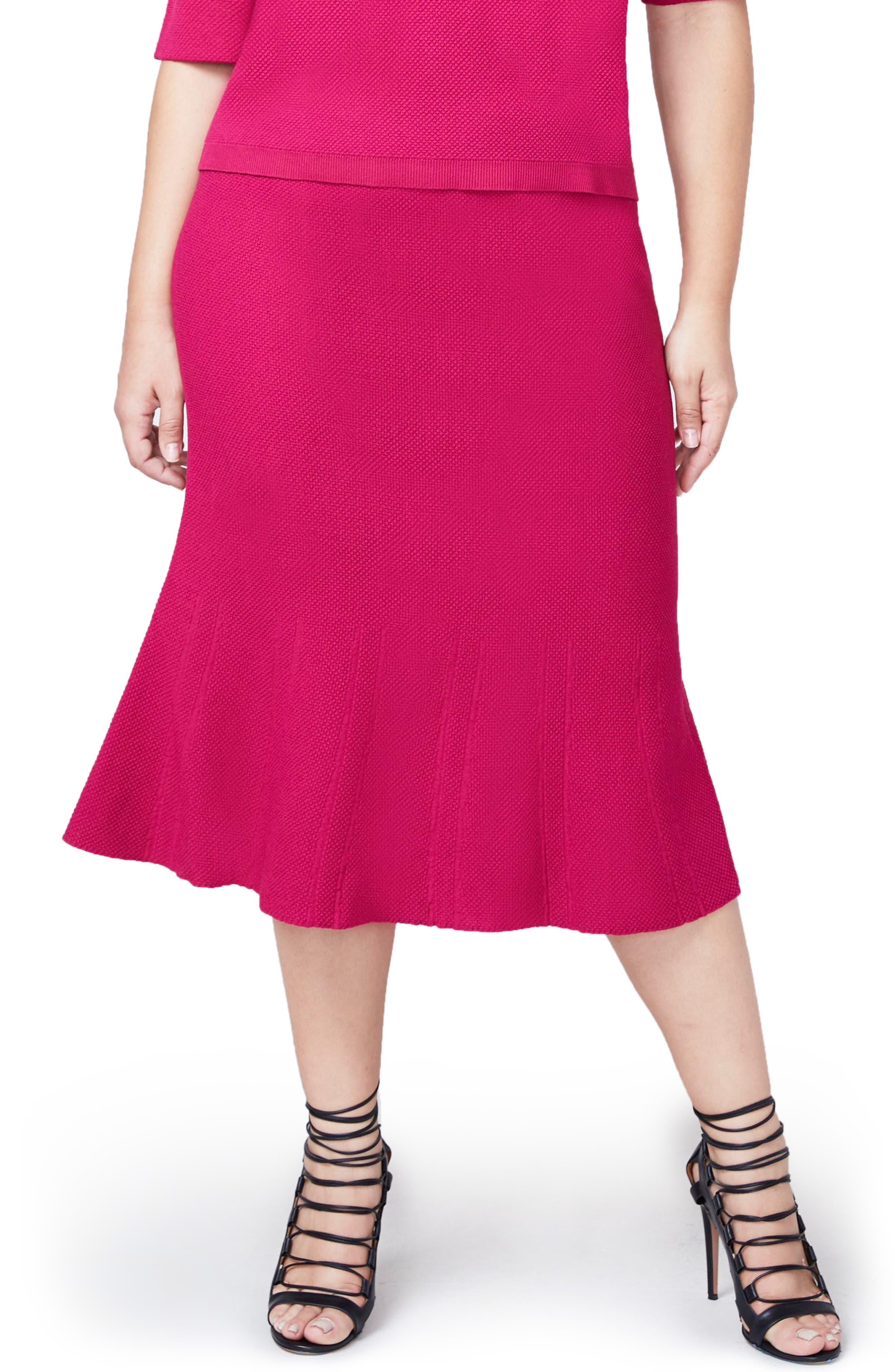 Rachel Roy Pebble Jacquard Fit & Flare Skirt,                             Main thumbnail 2, color,