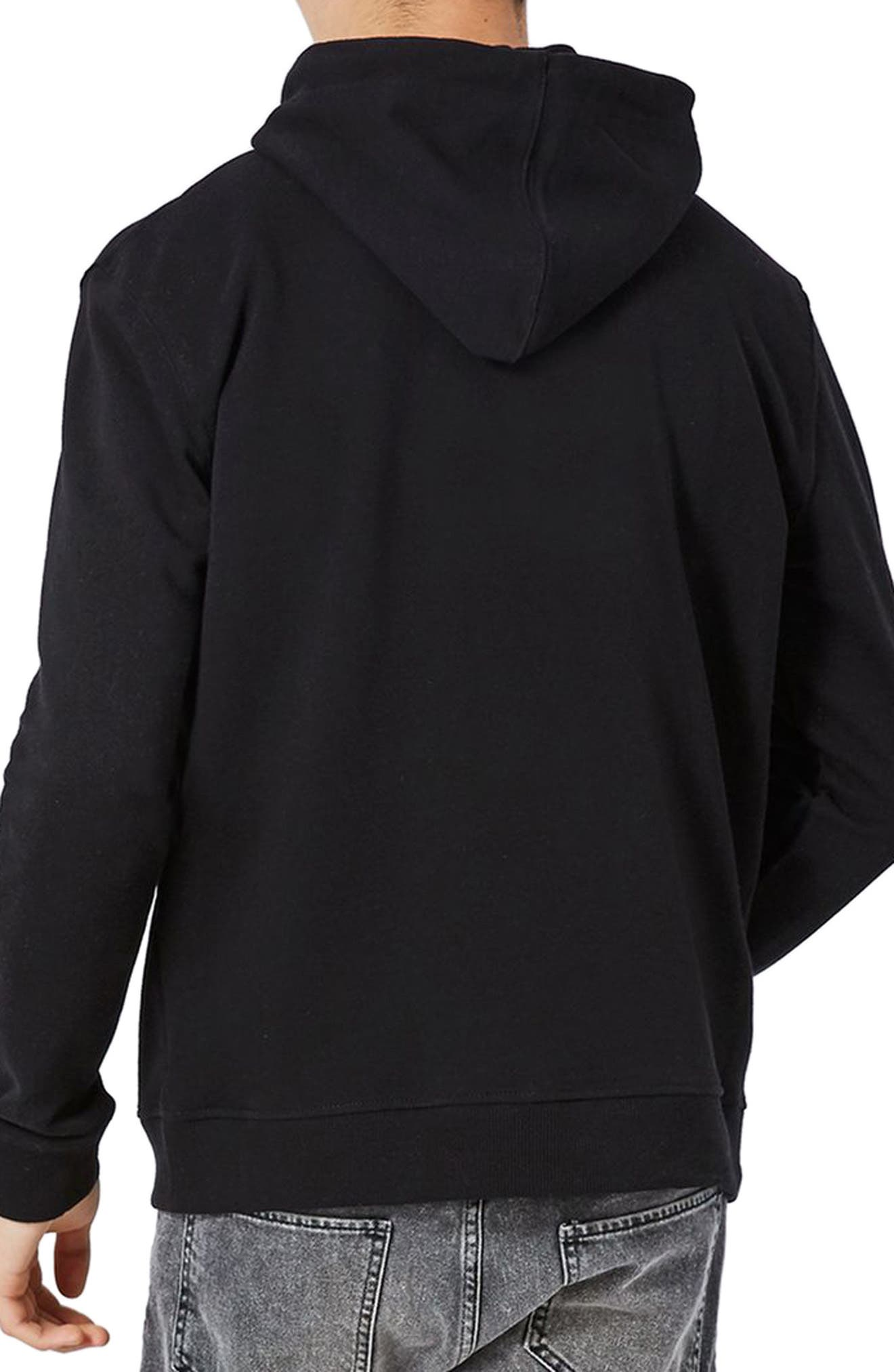 Classic Fit Hoodie,                             Alternate thumbnail 2, color,                             001
