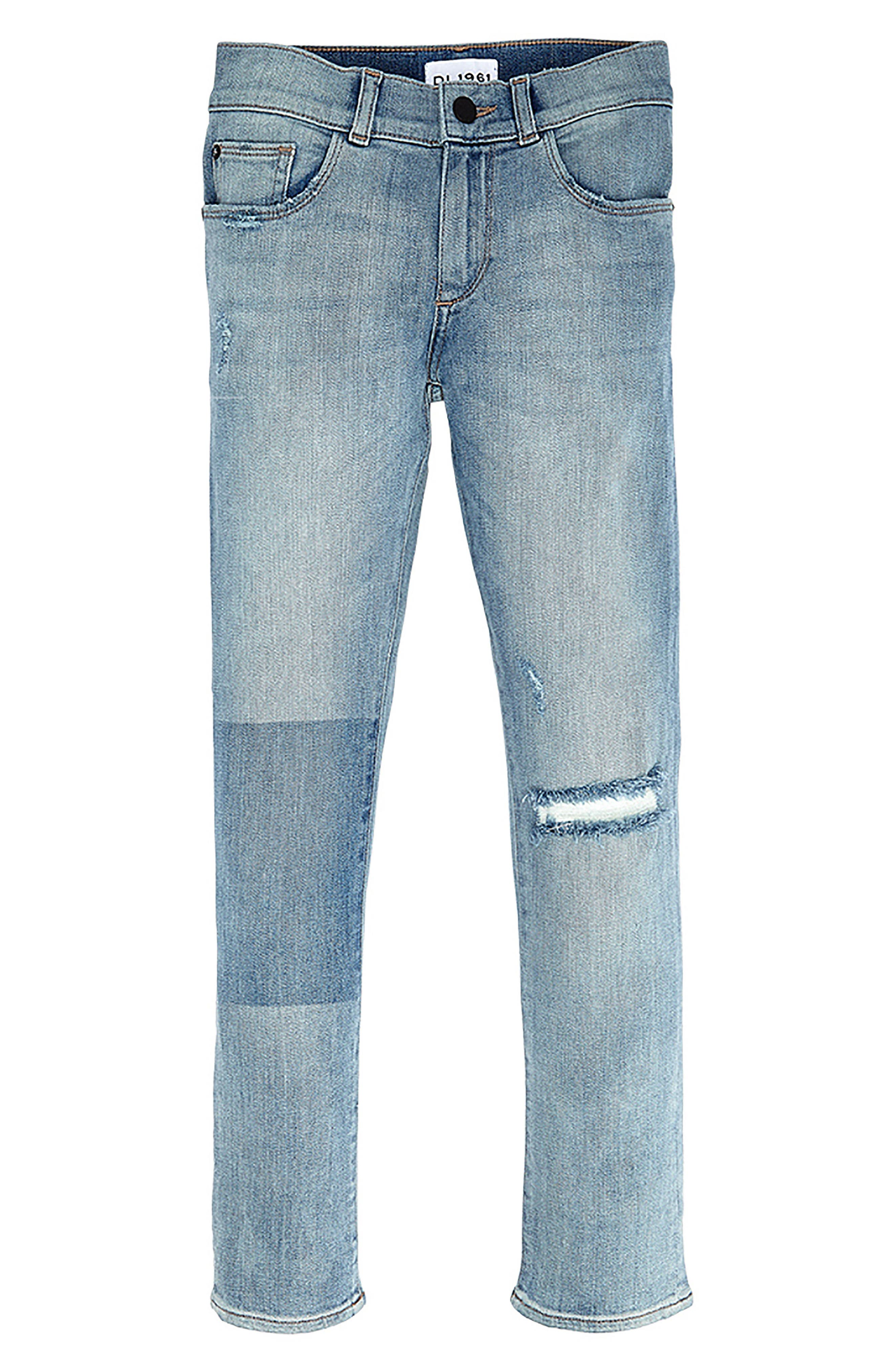 DL 1961 Hawke Skinny Jeans,                             Main thumbnail 1, color,                             BRAIN FREEZE