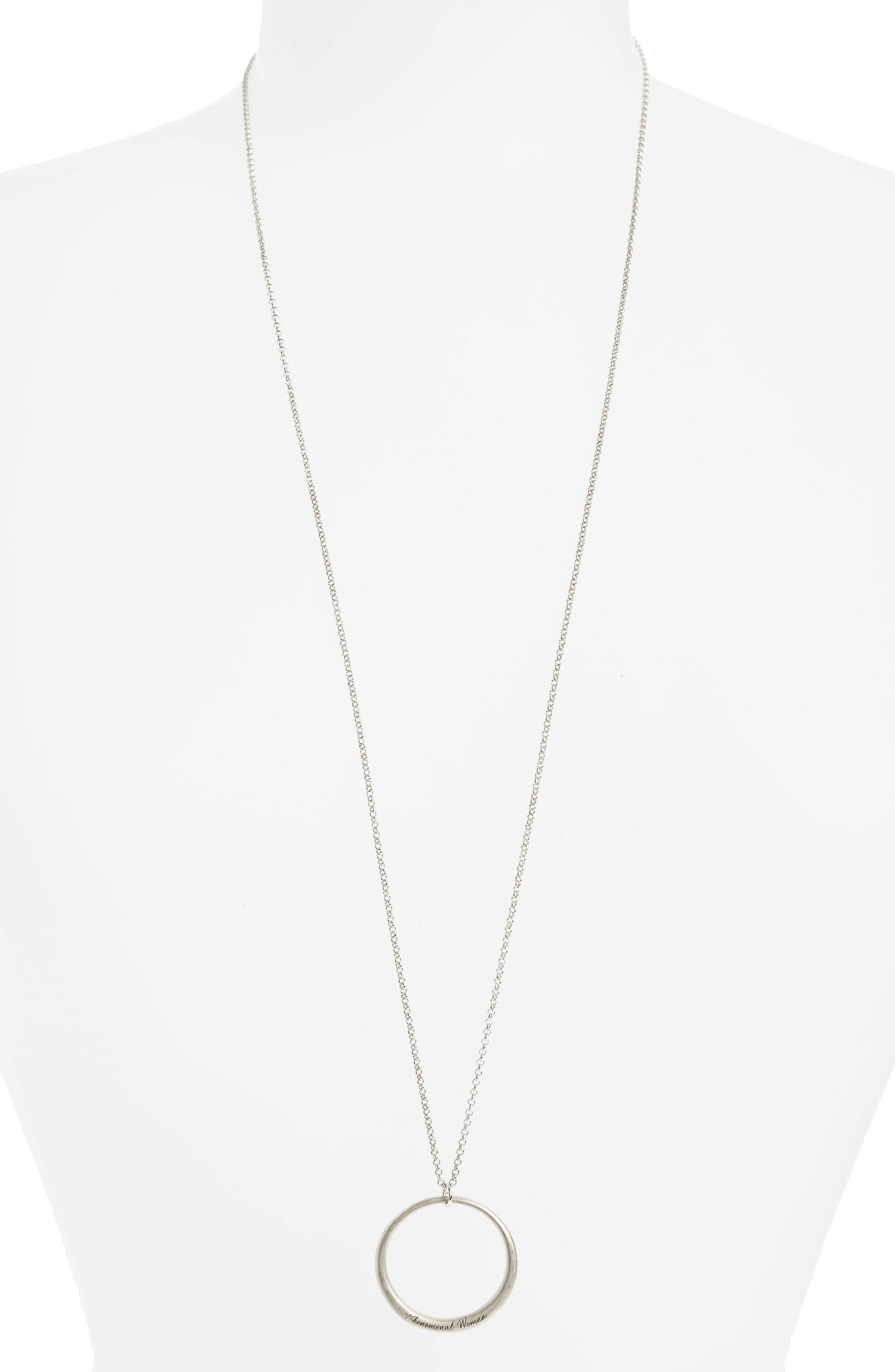 Legacy Collection - Phenomenal Women Open Circle Pendant Necklace,                             Alternate thumbnail 2, color,                             040