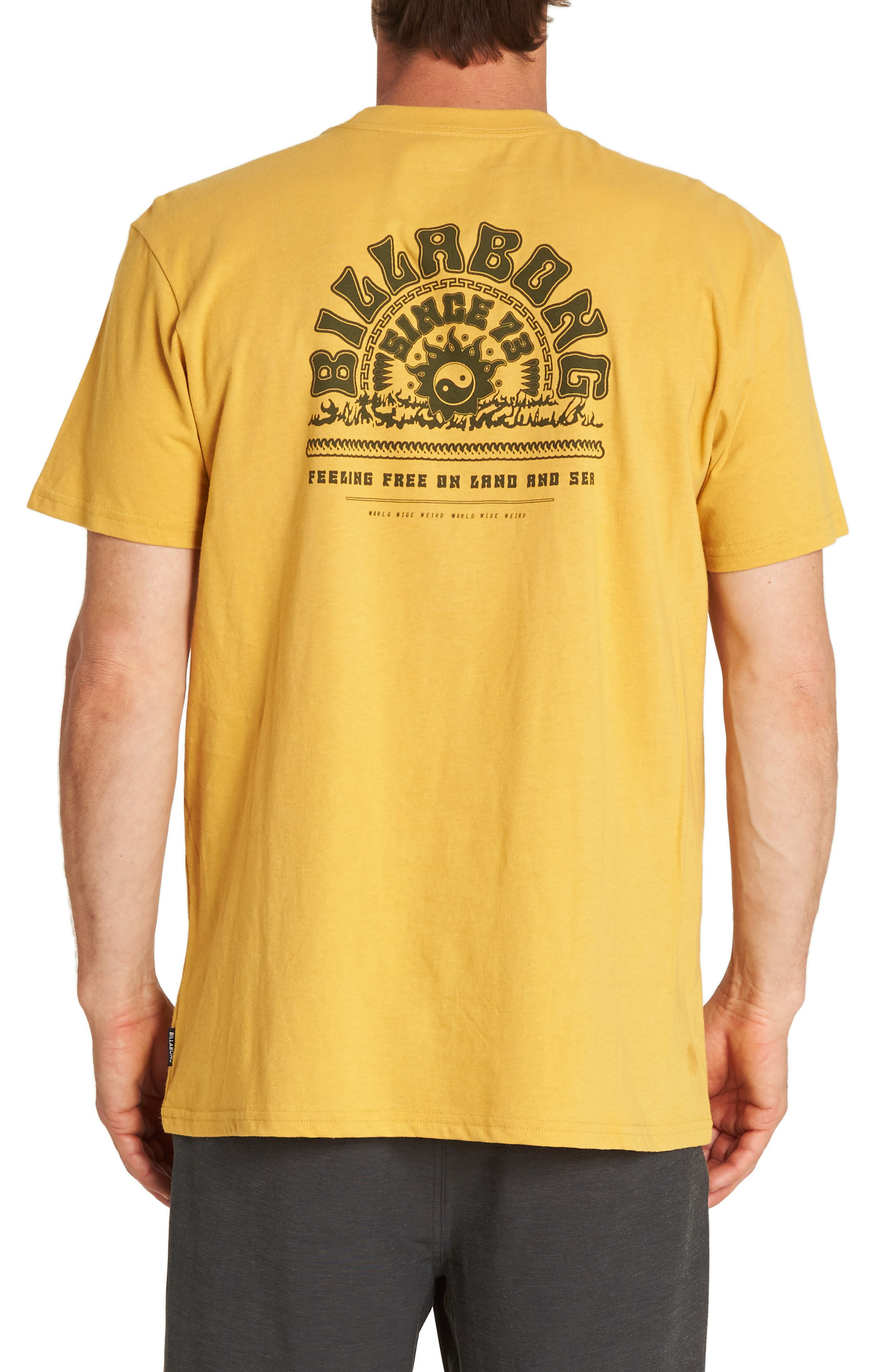 Wild & Free Graphic T-Shirt,                             Alternate thumbnail 2, color,                             GOLD