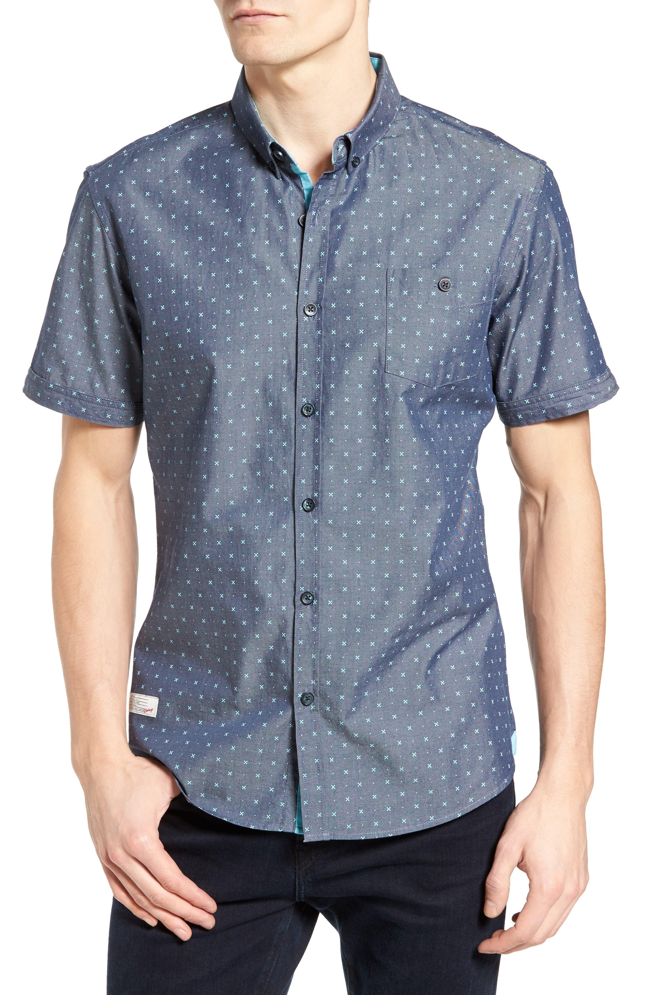 Everlasting Light Print Chambray Shirt,                         Main,                         color,