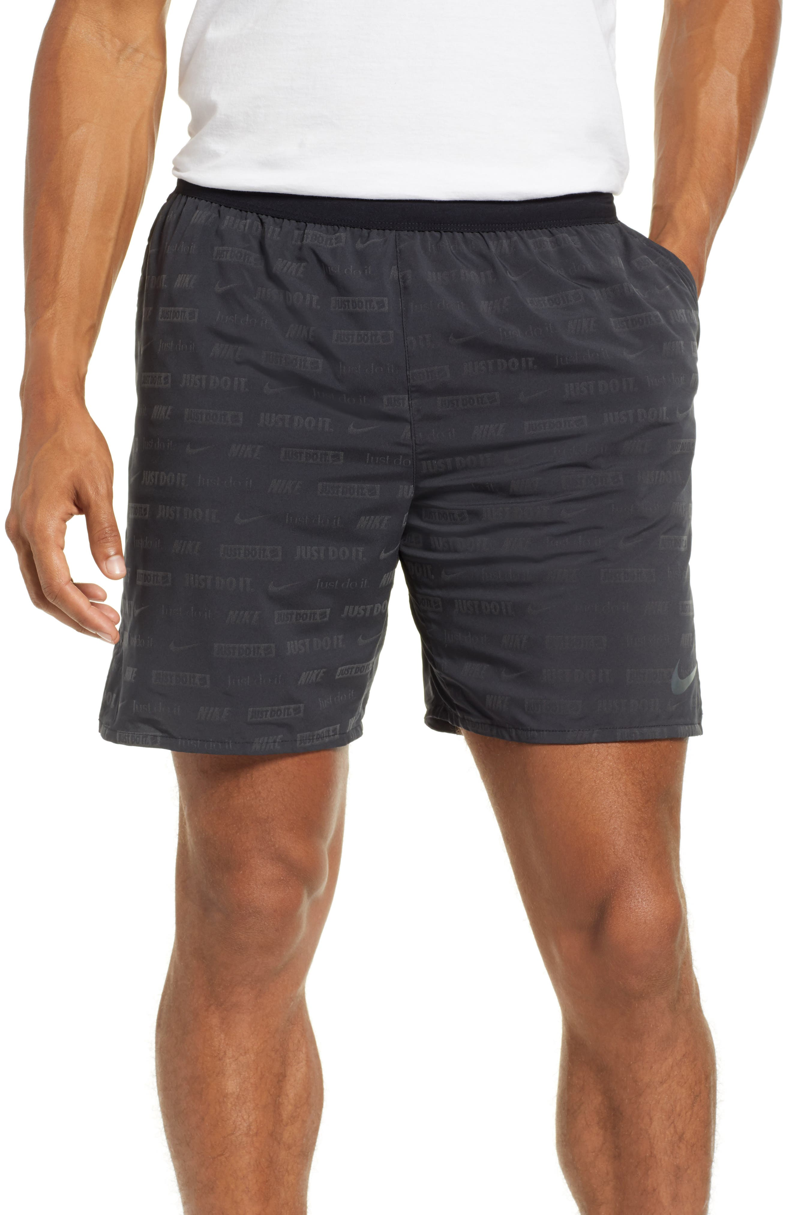 Stride Ghost Flash Running Shorts, Main, color, BLACK/ BLACK