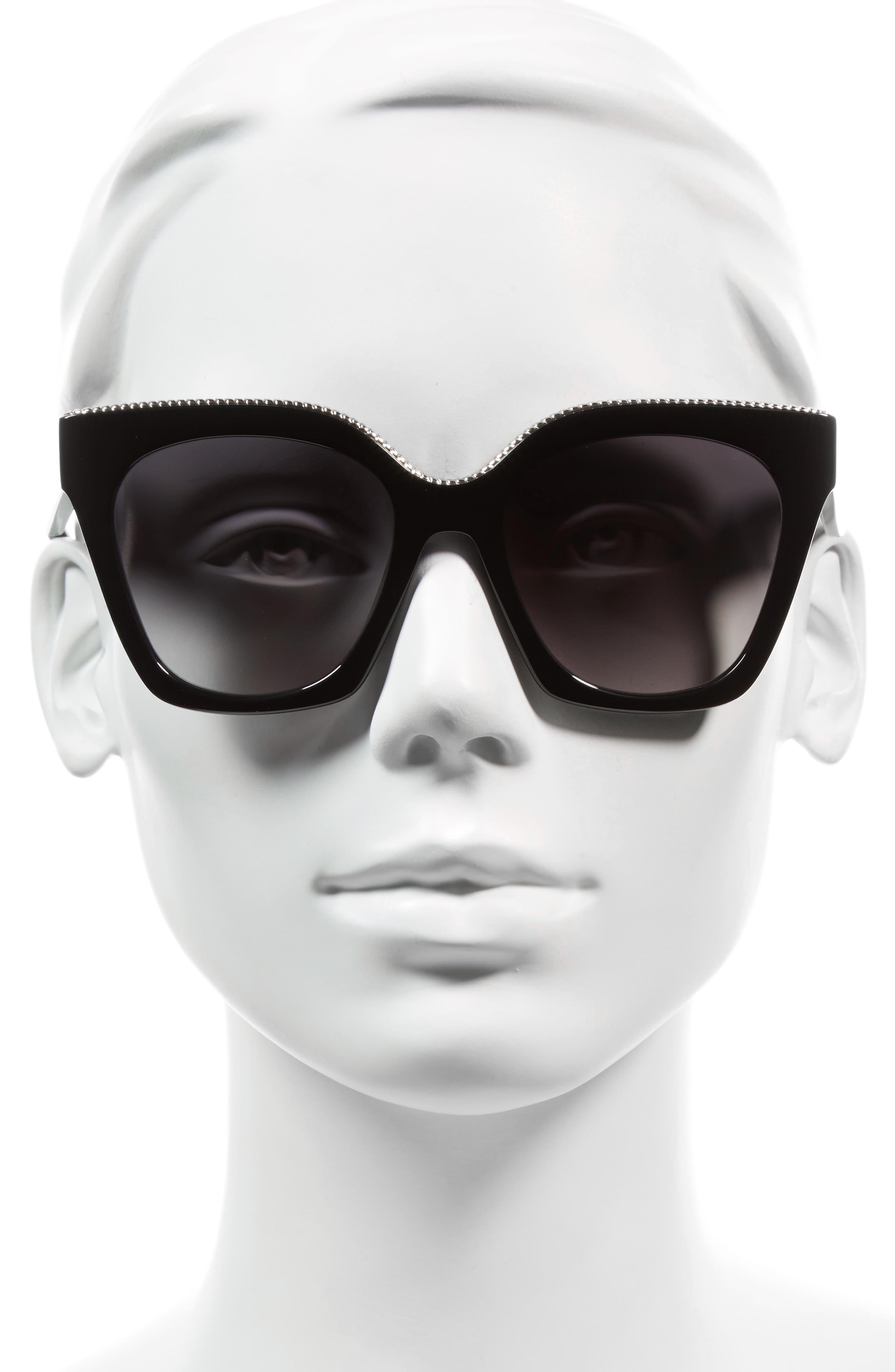 52mm Square Sunglasses,                             Alternate thumbnail 2, color,                             001