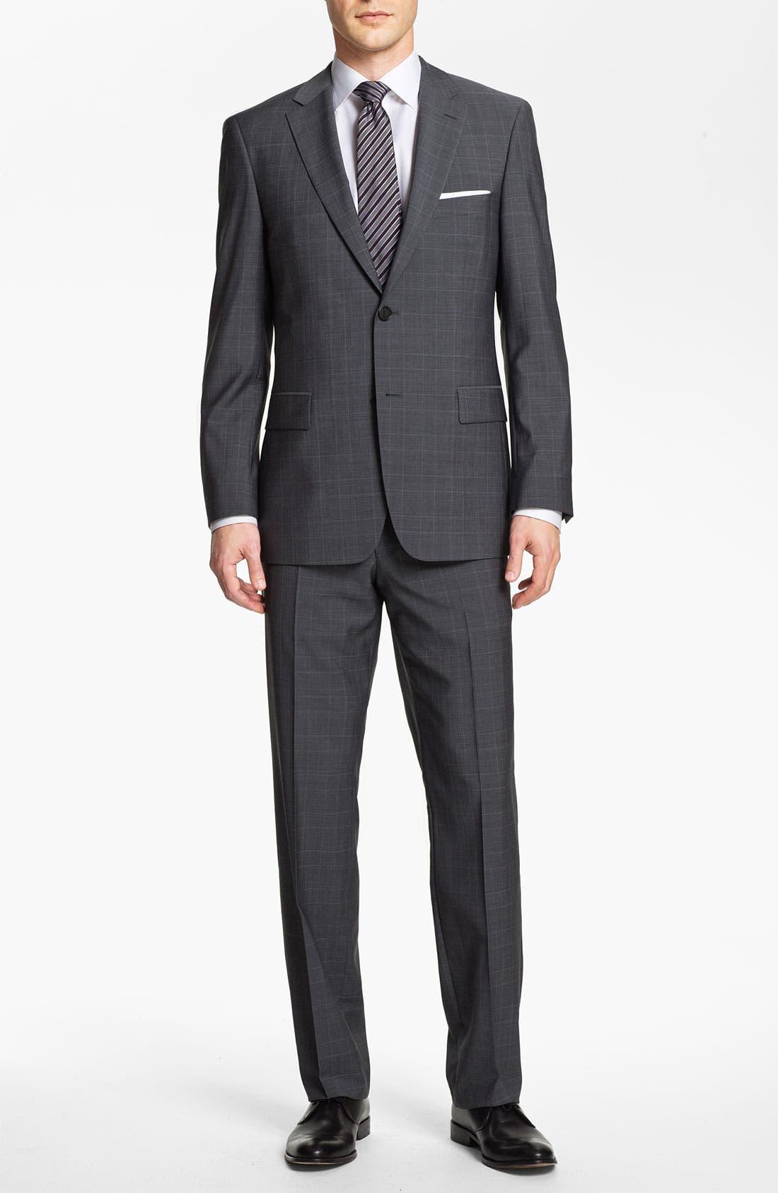 BOSS Black 'Pasini/Movie' Plaid Suit,                             Alternate thumbnail 3, color,                             030