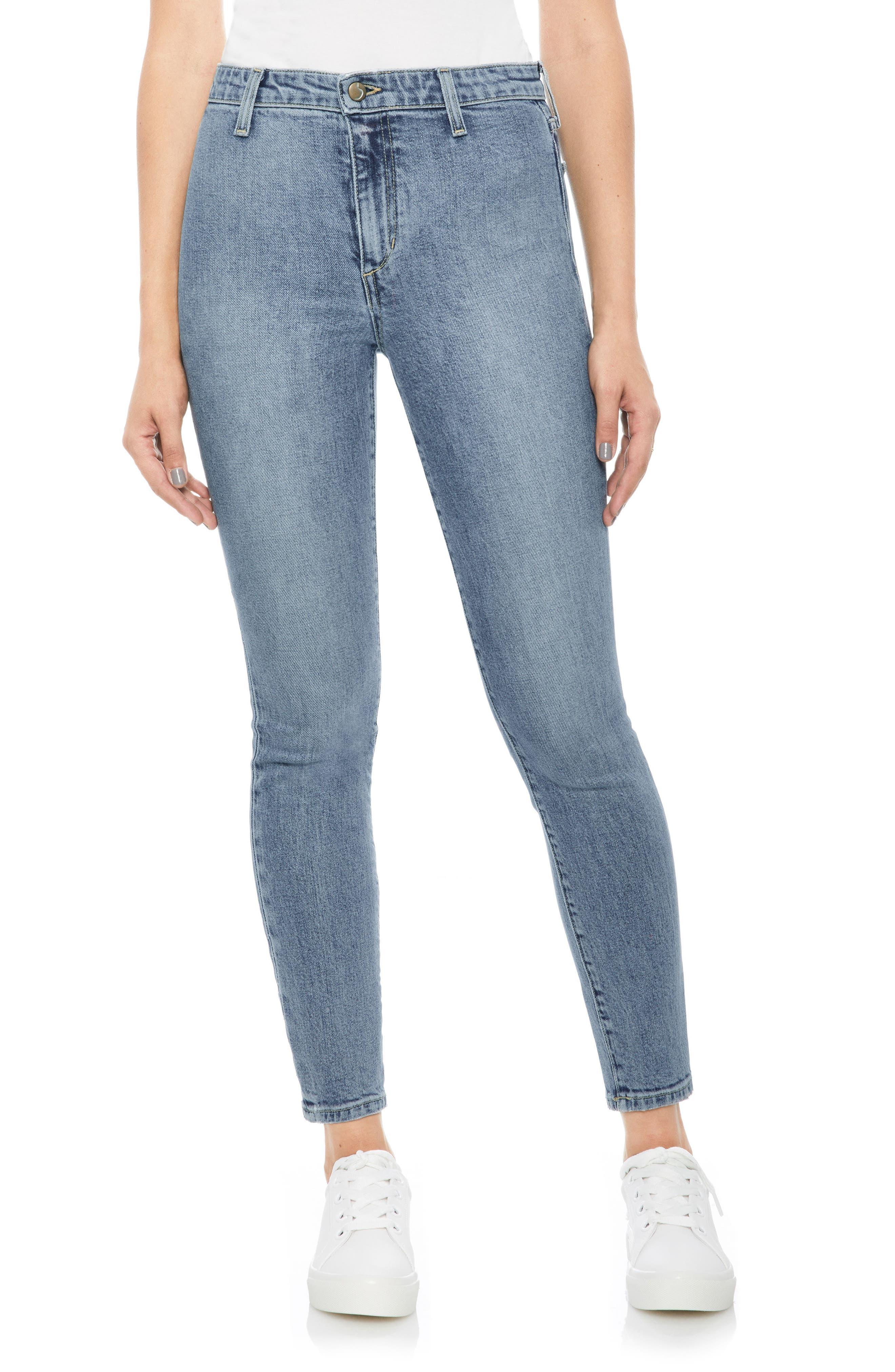 Charlie High Waist Ankle Skinny Jeans,                         Main,                         color, 415