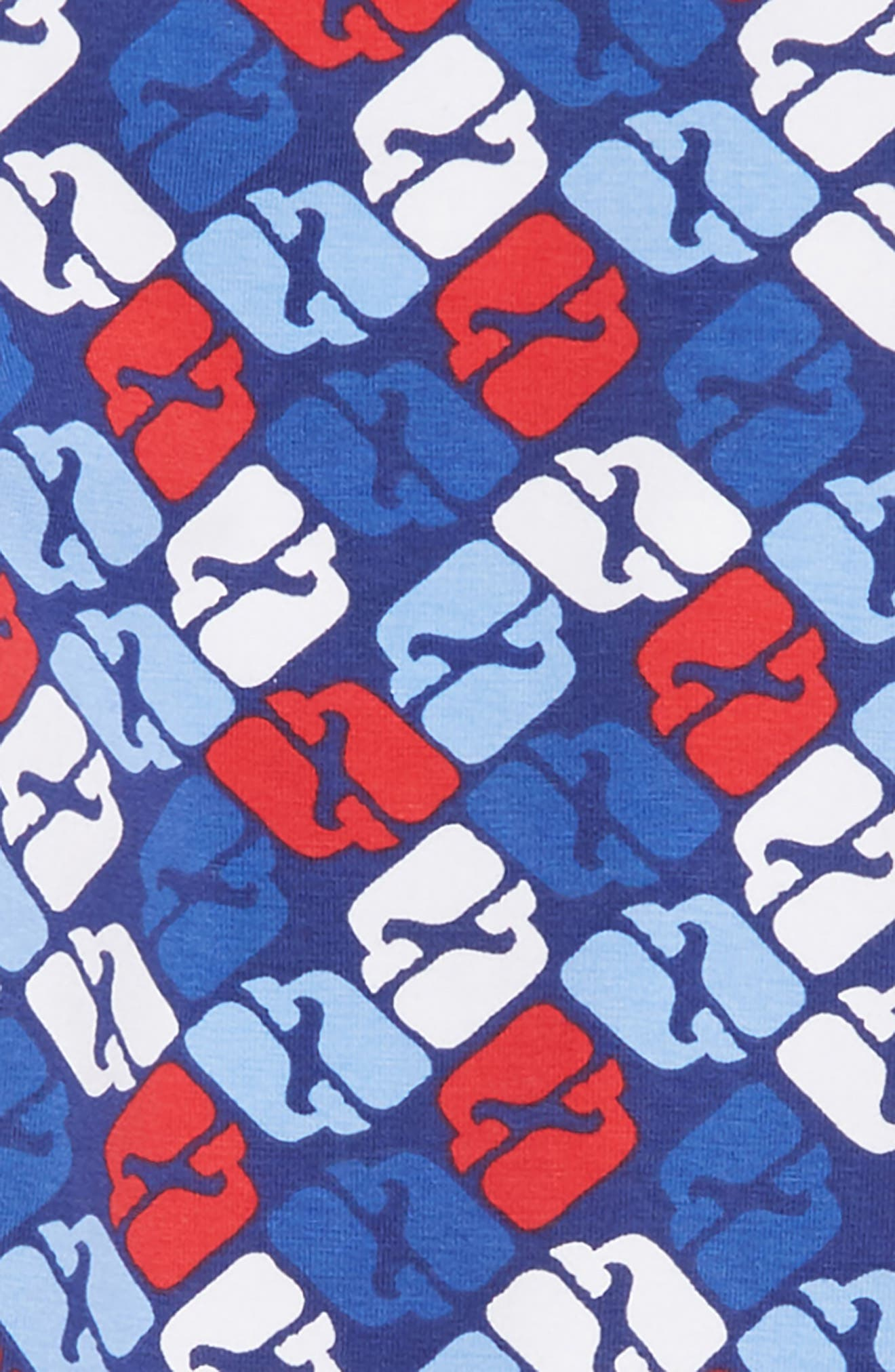 Puzzle Whale Leggings,                             Alternate thumbnail 2, color,                             COMMODORE