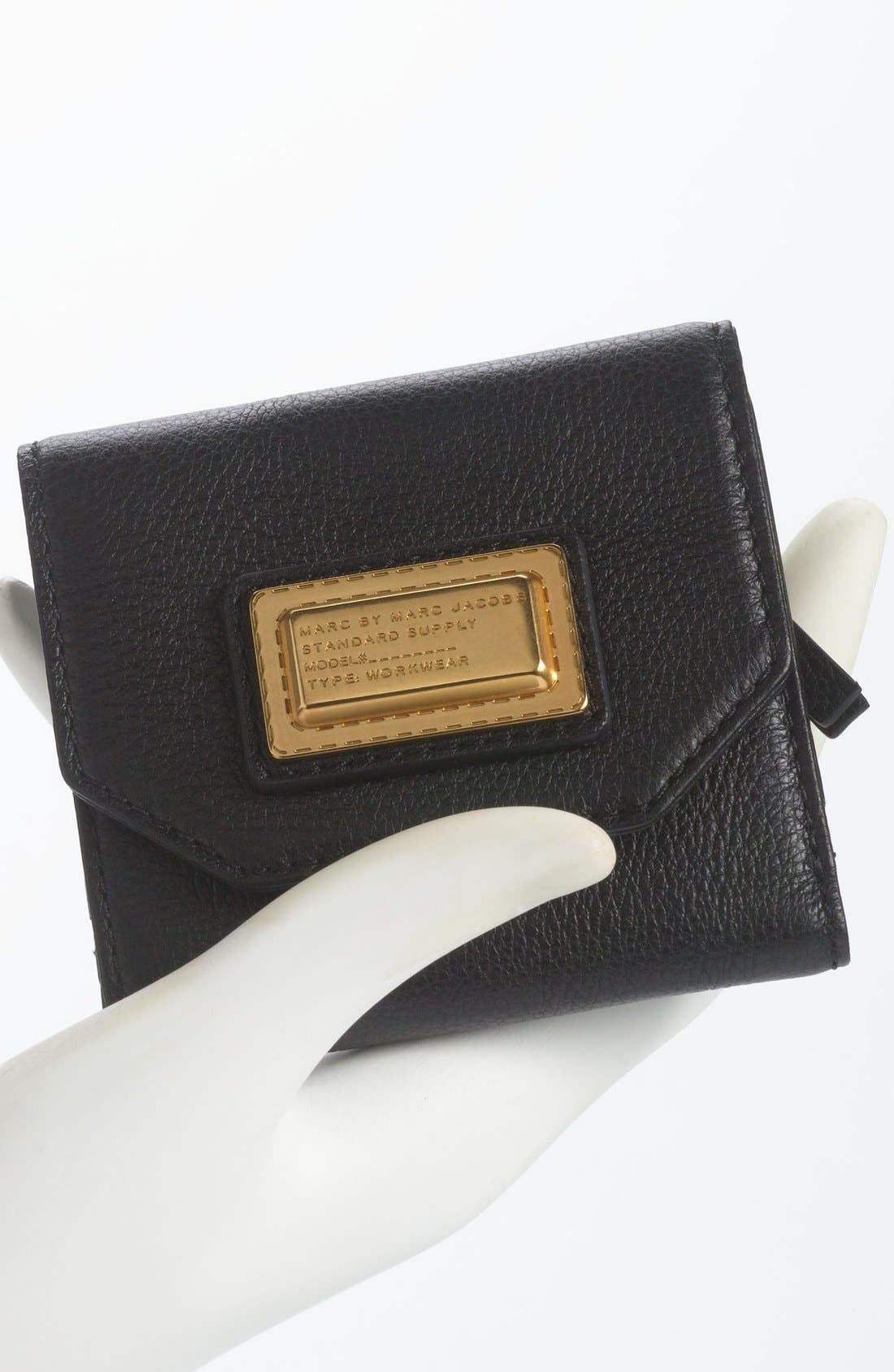 MARC BY MARC JACOBS Bifold French Wallet,                             Alternate thumbnail 4, color,                             001