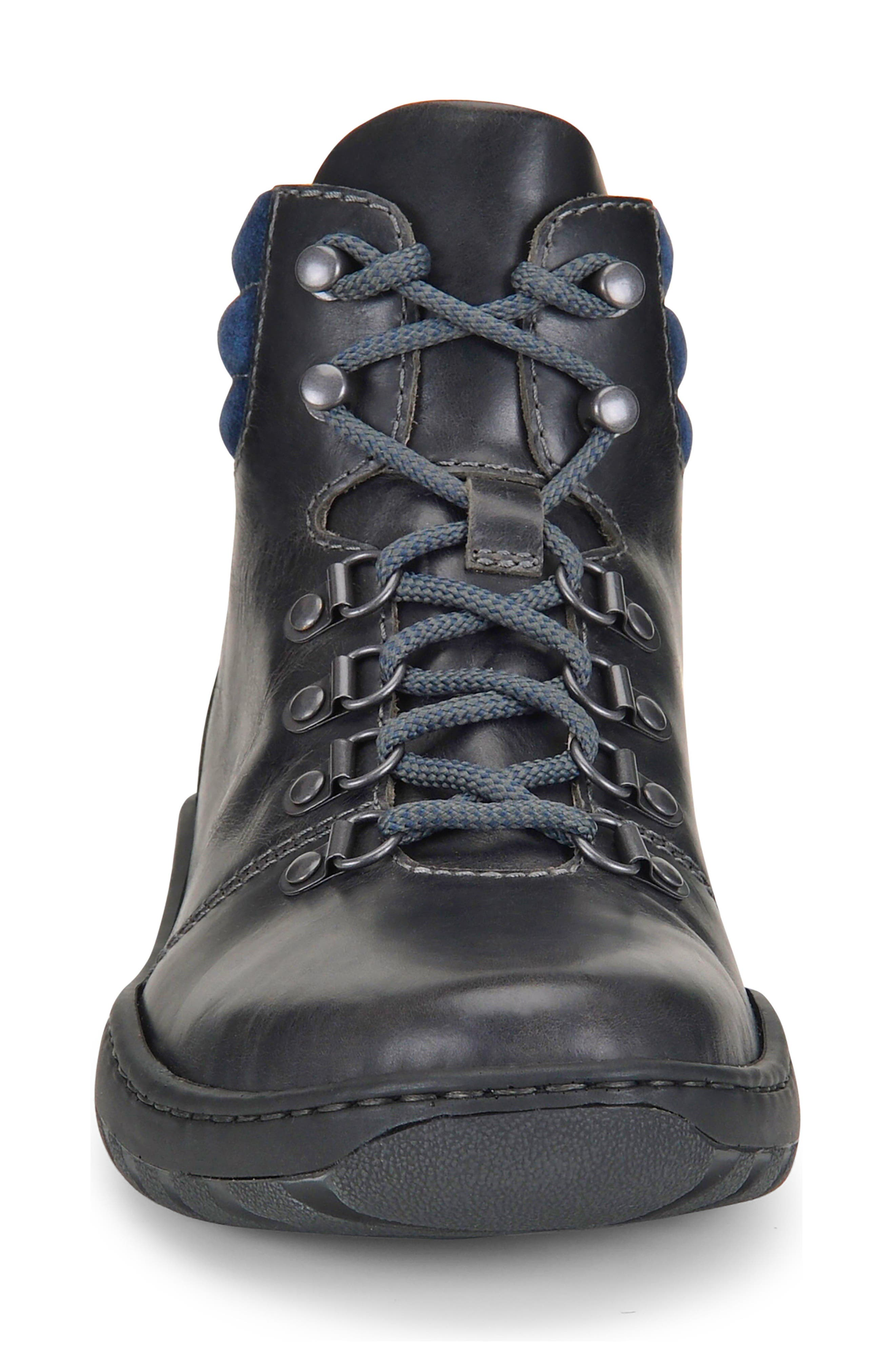 Dutchman Plain Toe Boot,                             Alternate thumbnail 4, color,                             DARK GREY/ BLUE