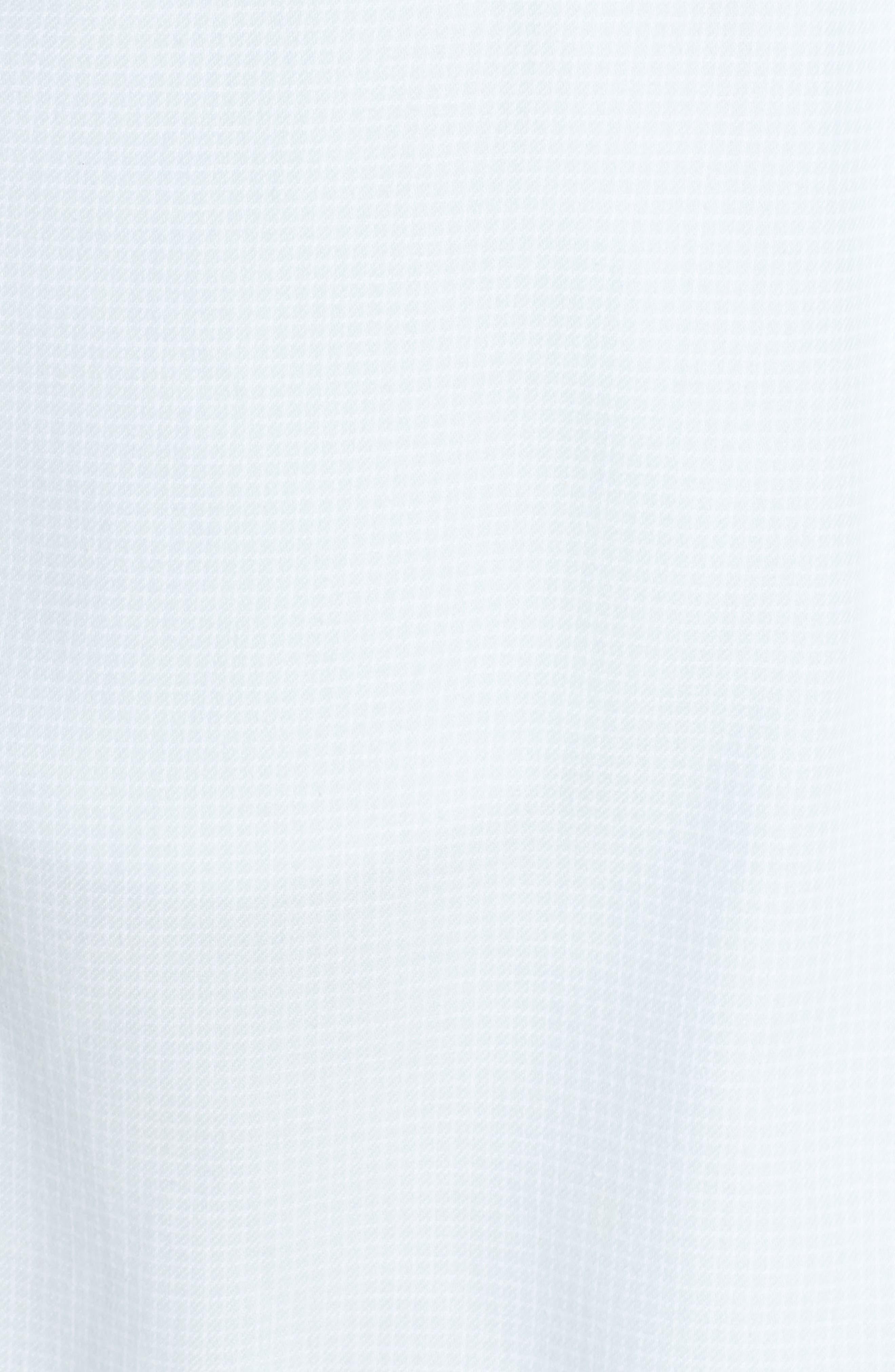 Anika Fleece Lined Flannel Robe,                             Alternate thumbnail 5, color,                             SKY BLUE / WHITE CHECK