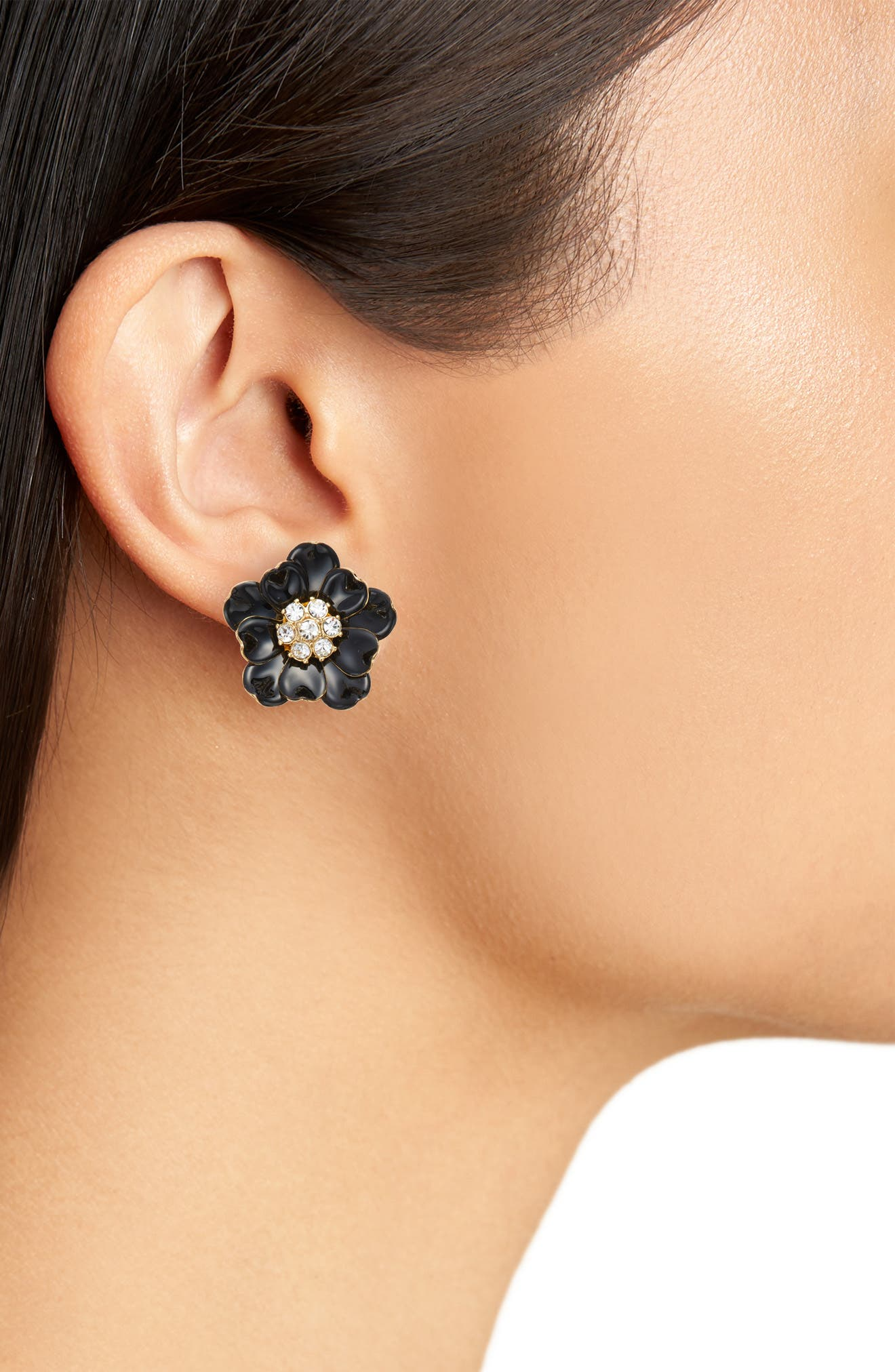 precious poppies stud earrings,                             Alternate thumbnail 2, color,                             006