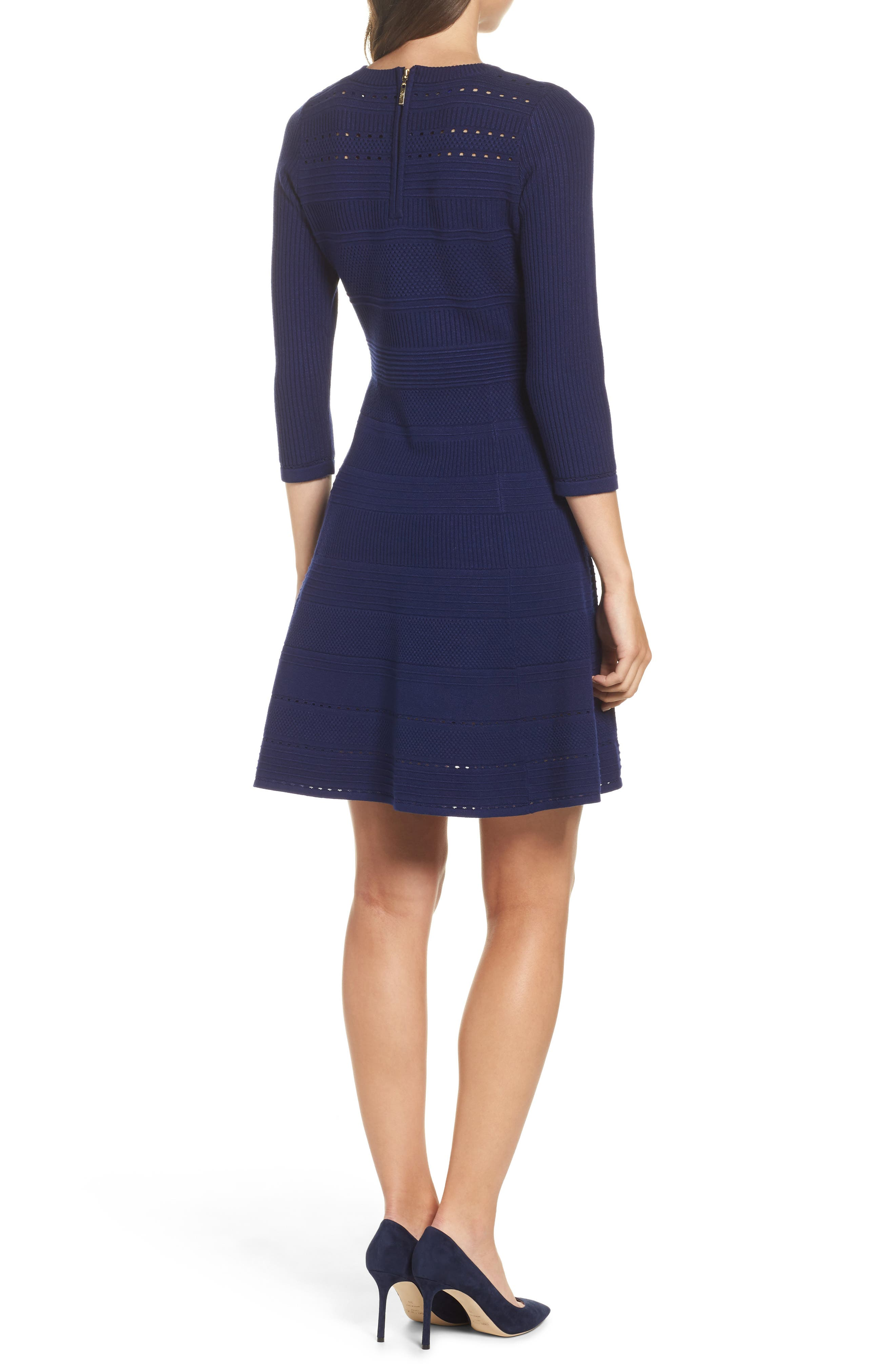 Fit & Flare Sweater Dress,                             Alternate thumbnail 7, color,