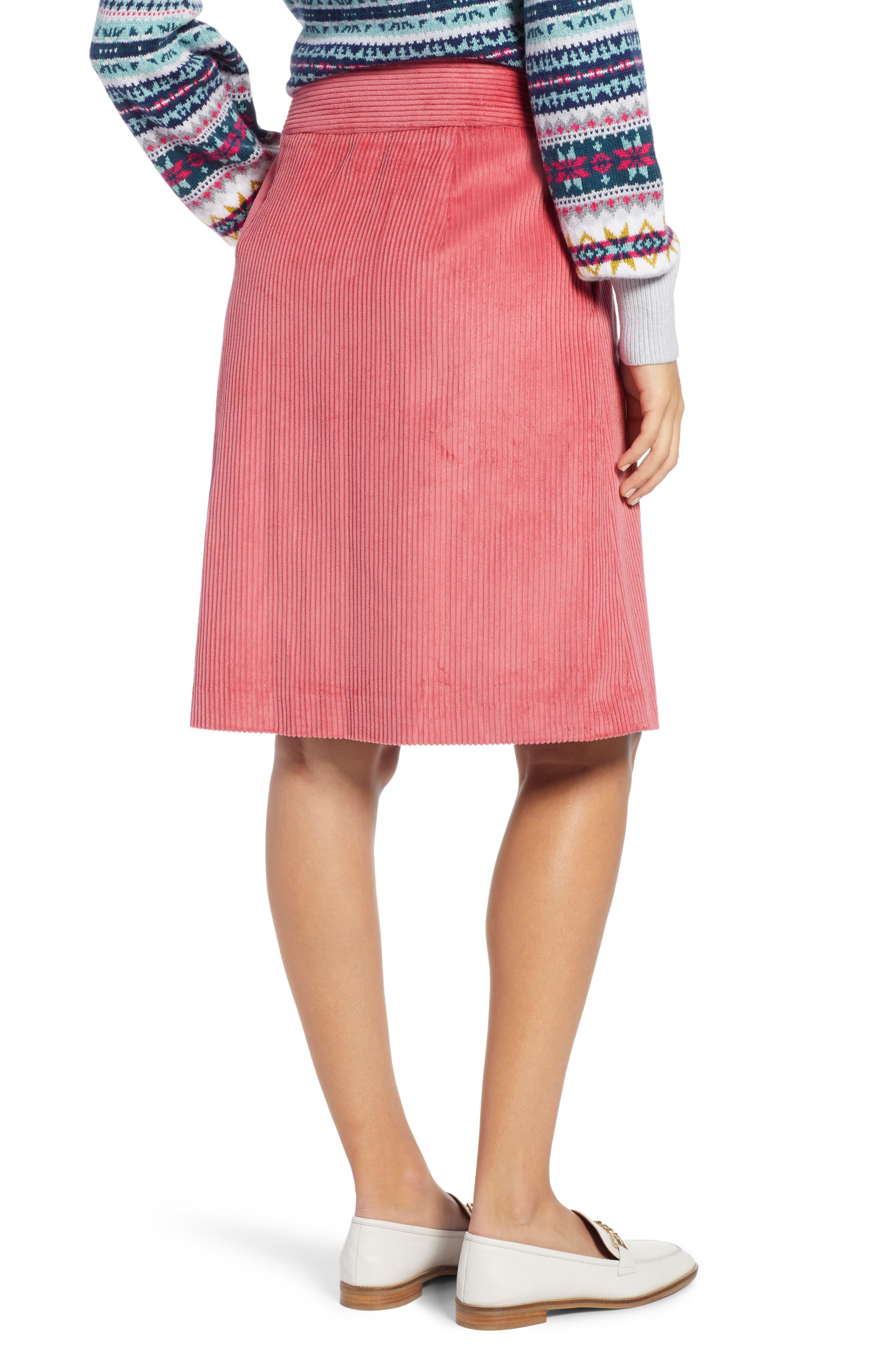 Corduroy Knee Length Skirt,                             Alternate thumbnail 2, color,                             660