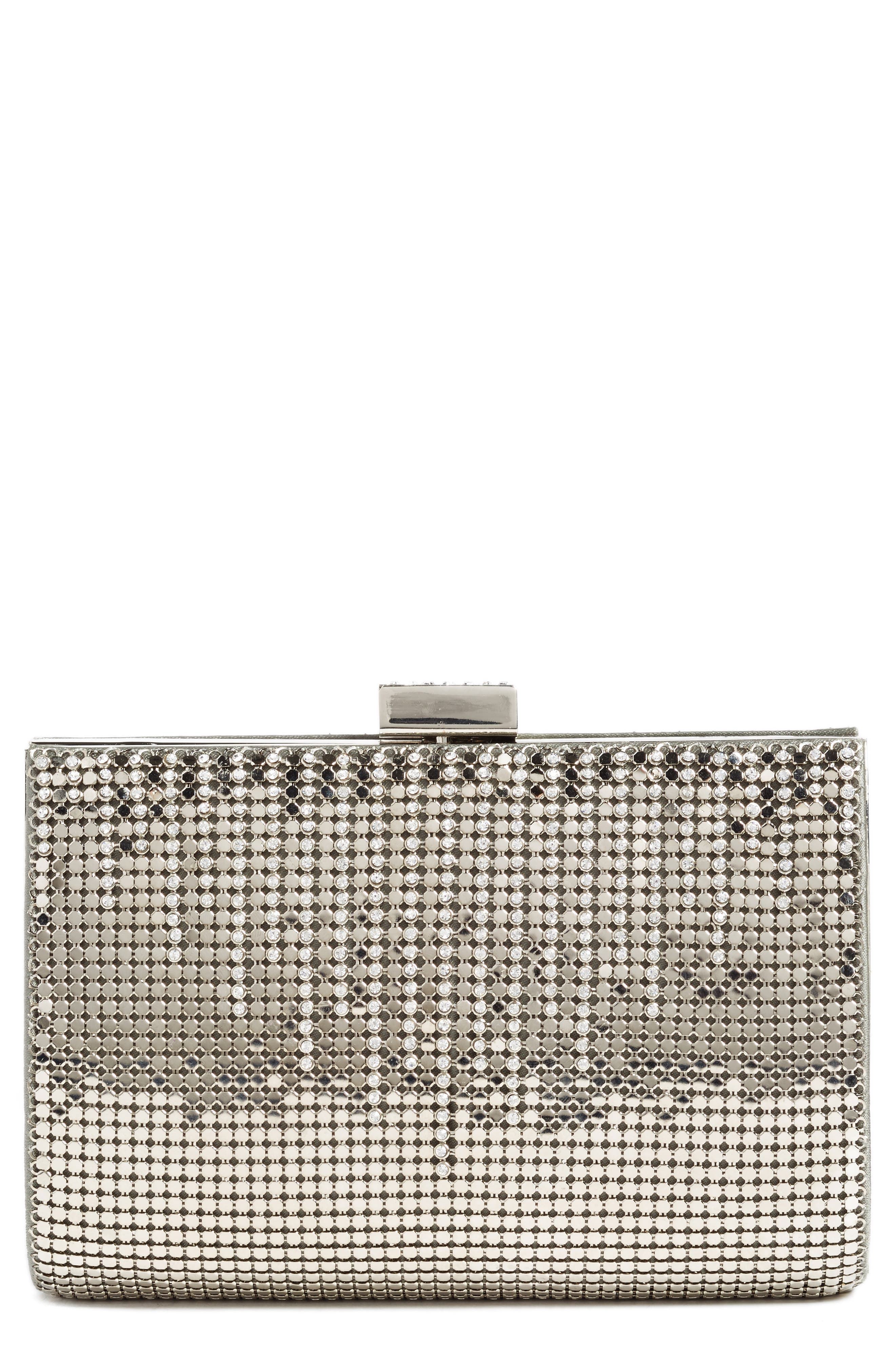 'Diamond Drips' Evening Clutch,                             Alternate thumbnail 2, color,                             PEWTER