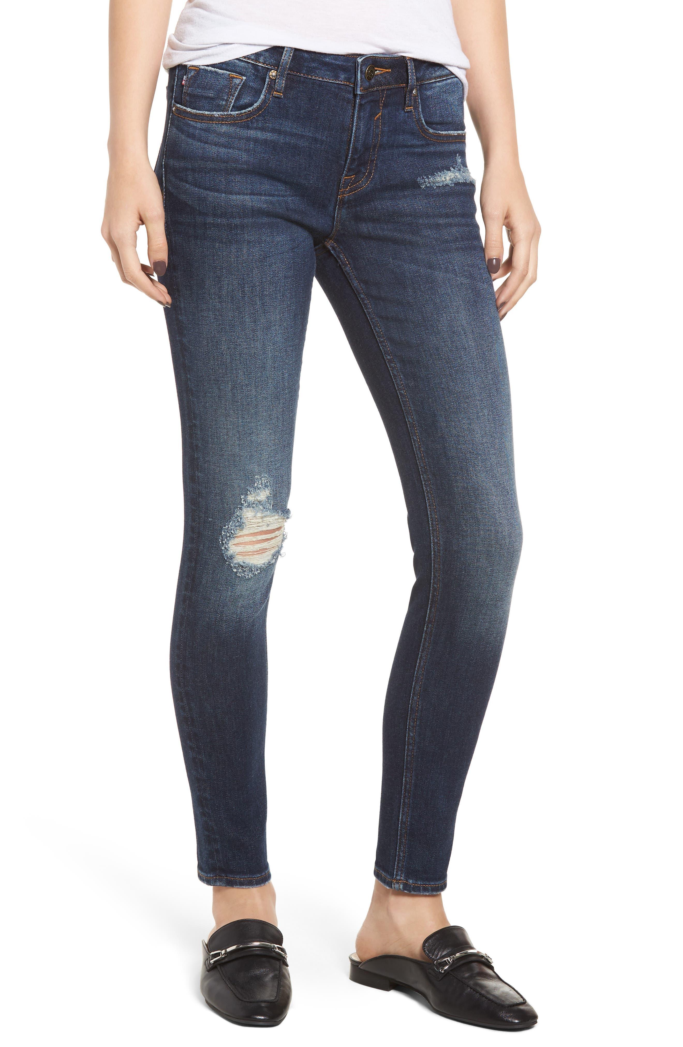 VIGOSS Jagger Ripped Skinny Jeans, Main, color, 403