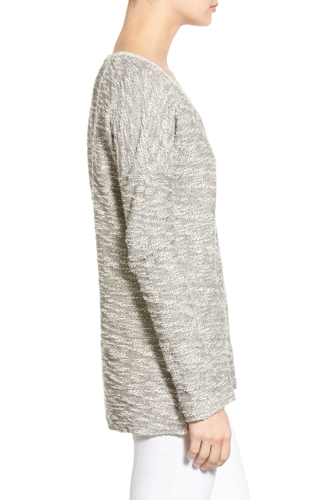 'Martine' Slub Cotton Sweater,                             Alternate thumbnail 2, color,                             001