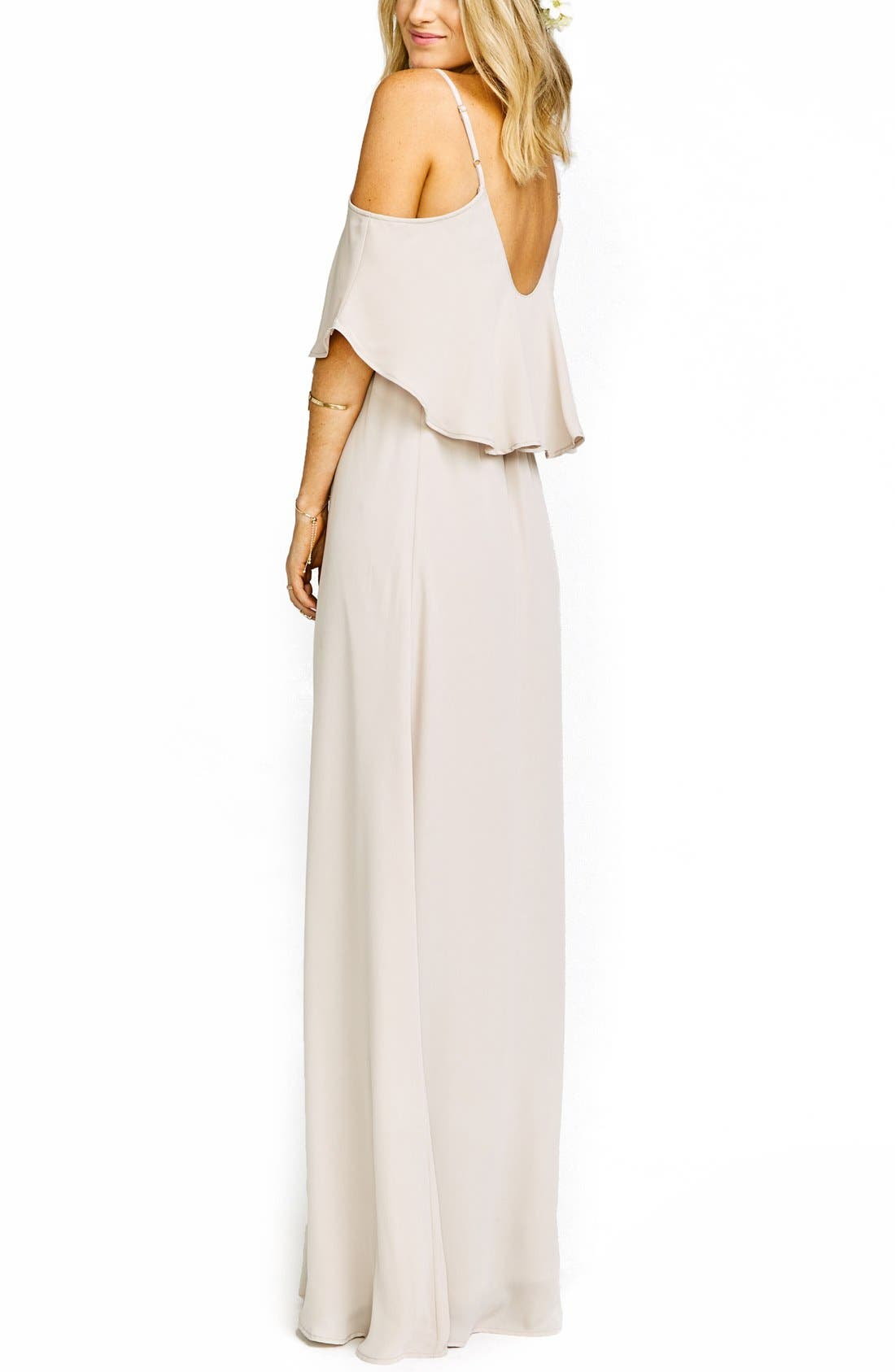 Caitlin Cold Shoulder Chiffon Gown,                             Alternate thumbnail 59, color,