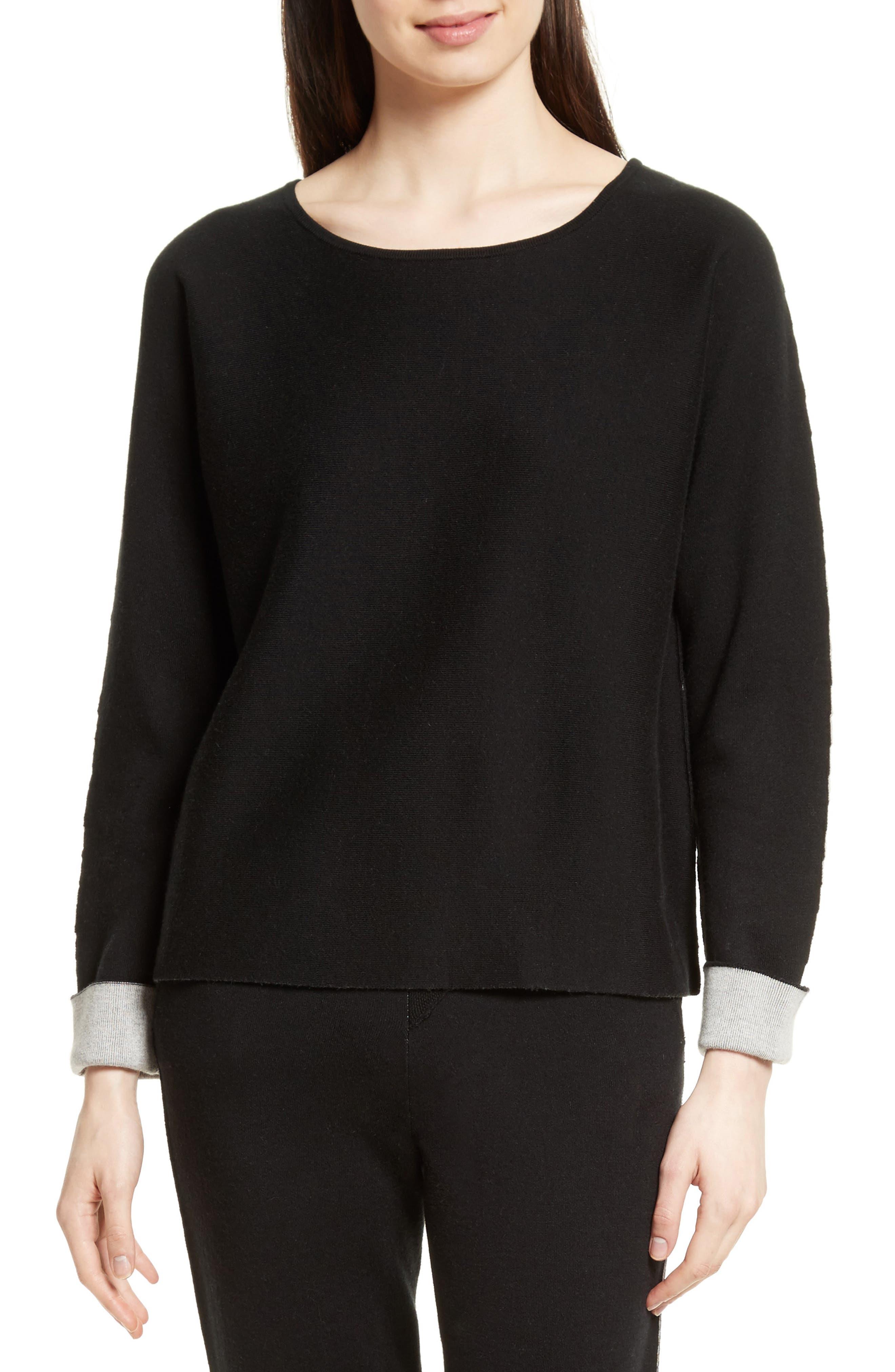 Cotton Blend Sweater,                             Main thumbnail 1, color,                             007