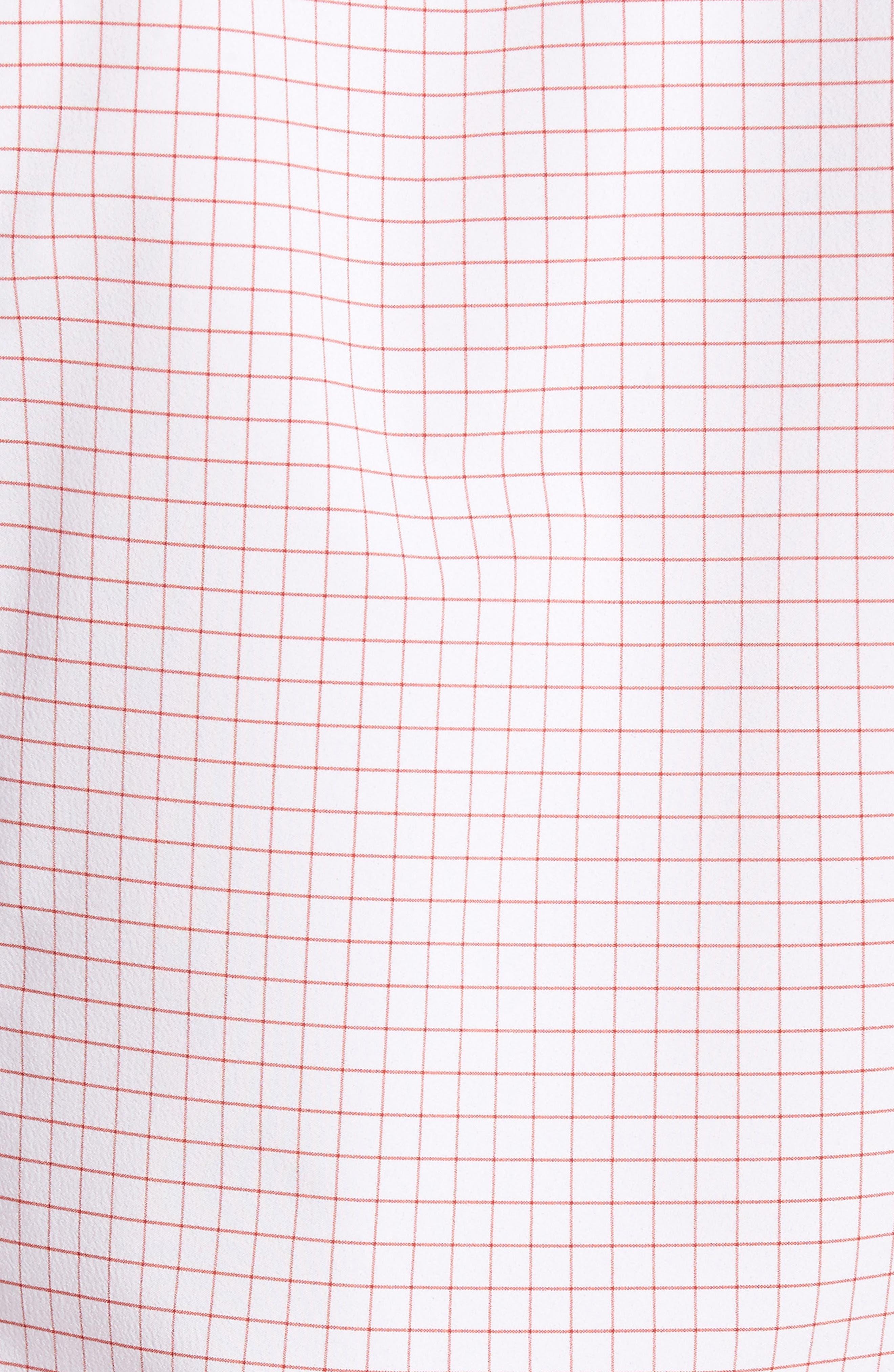 York Slim Fit Tattersall Performance Sport Shirt,                             Alternate thumbnail 5, color,                             600