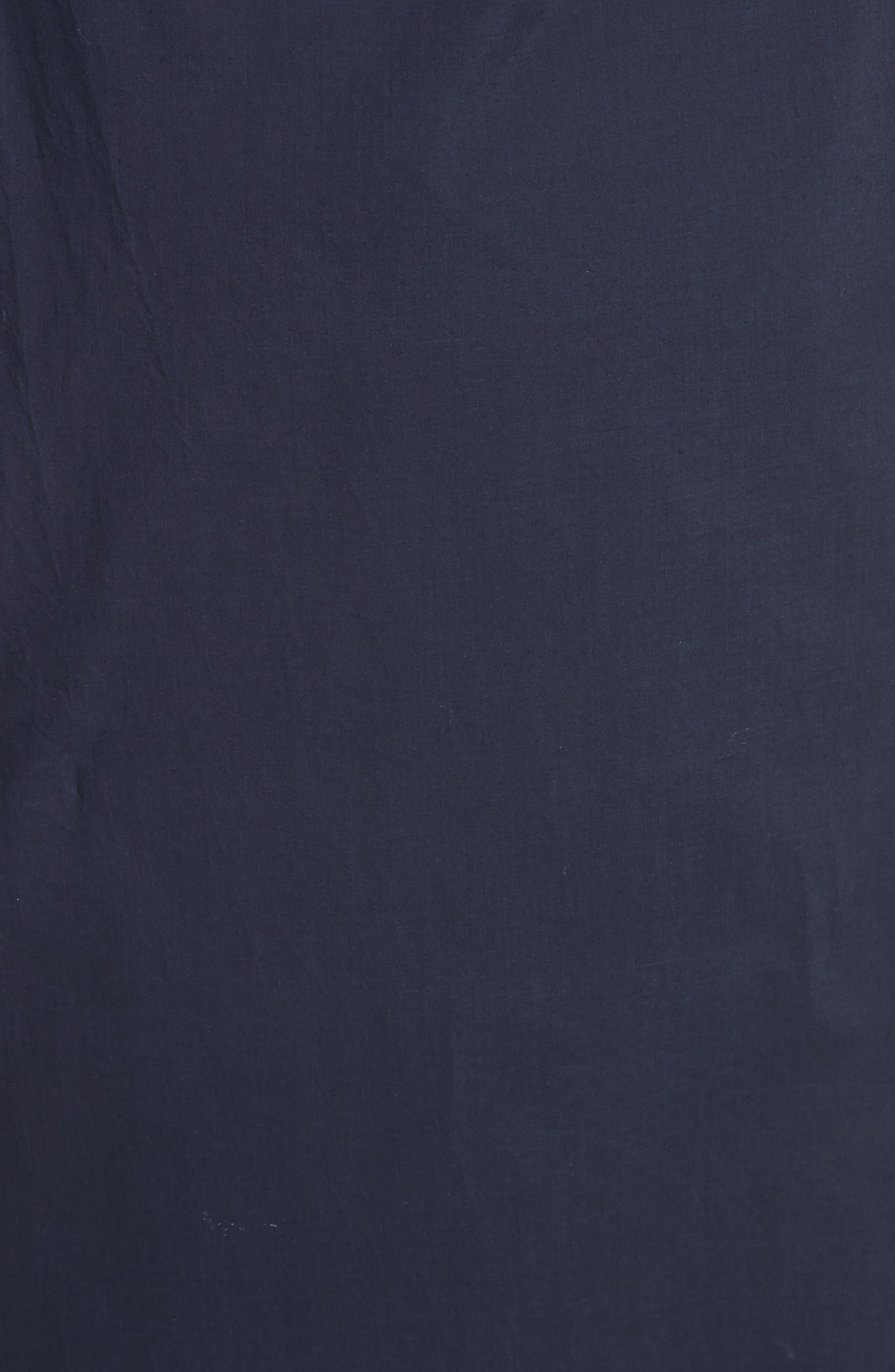 Clota Ruched One-Shoulder Poplin Dress,                             Alternate thumbnail 5, color,                             400