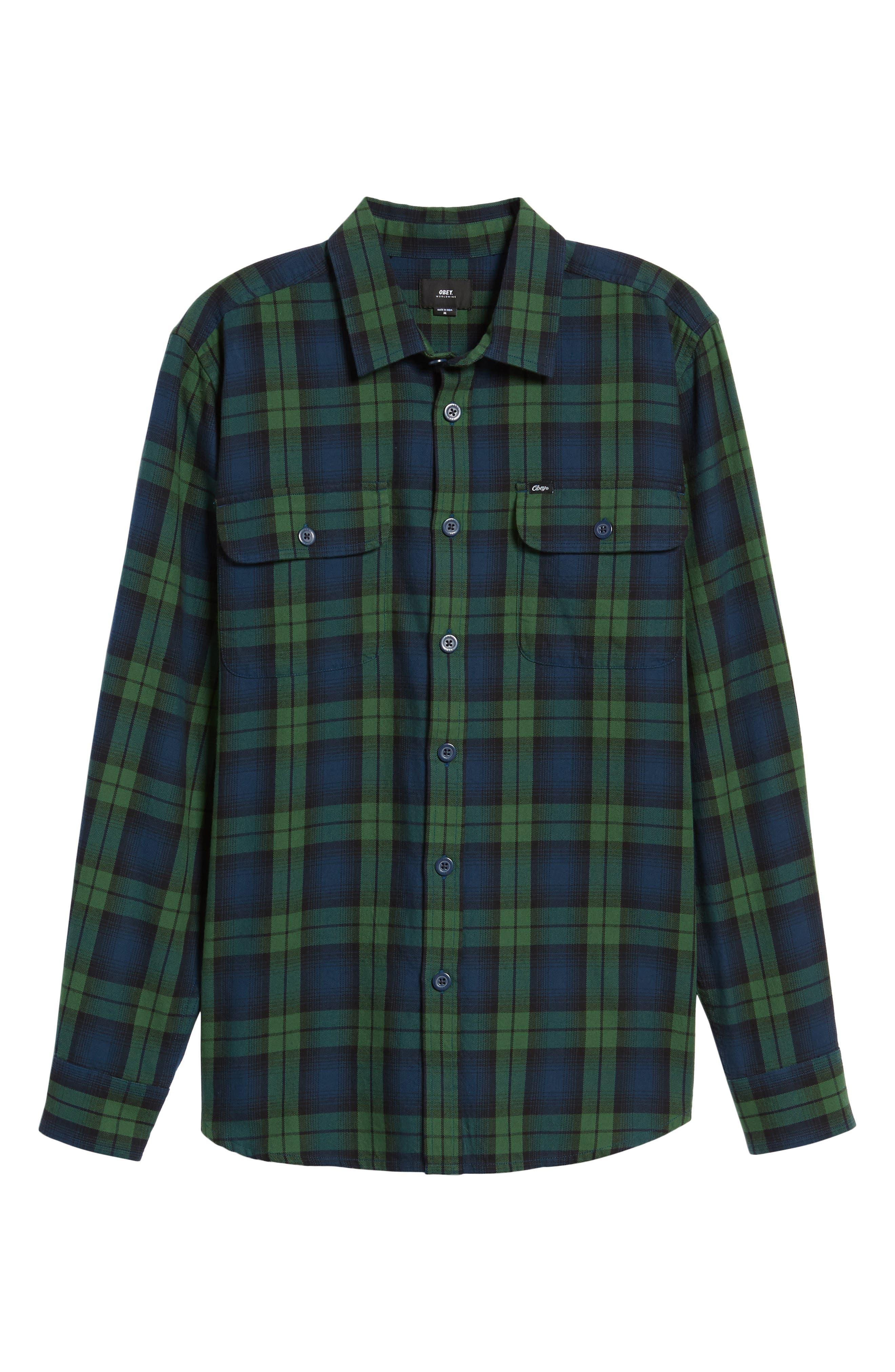Norwich Plaid Woven Shirt,                             Alternate thumbnail 6, color,                             303