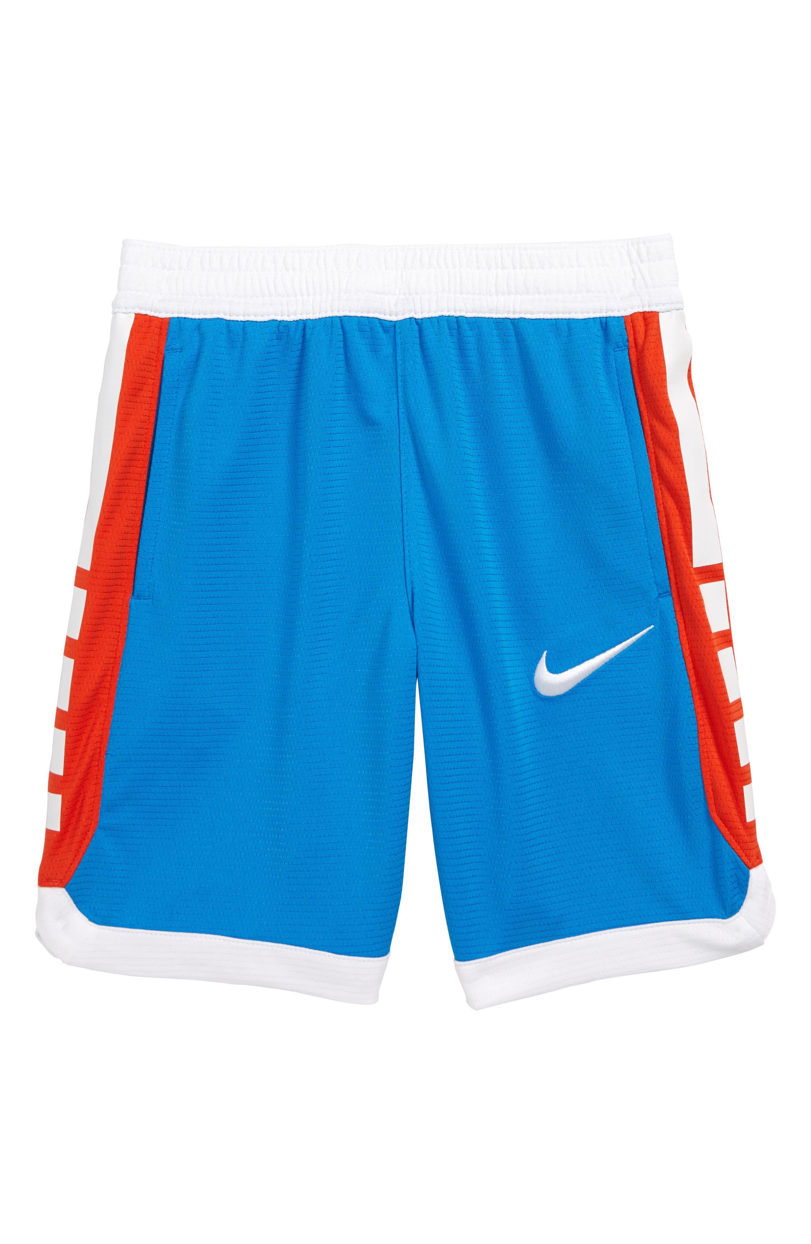 Boys Nike Dry Elite Stripe Athletic Shorts Size 7  Blue