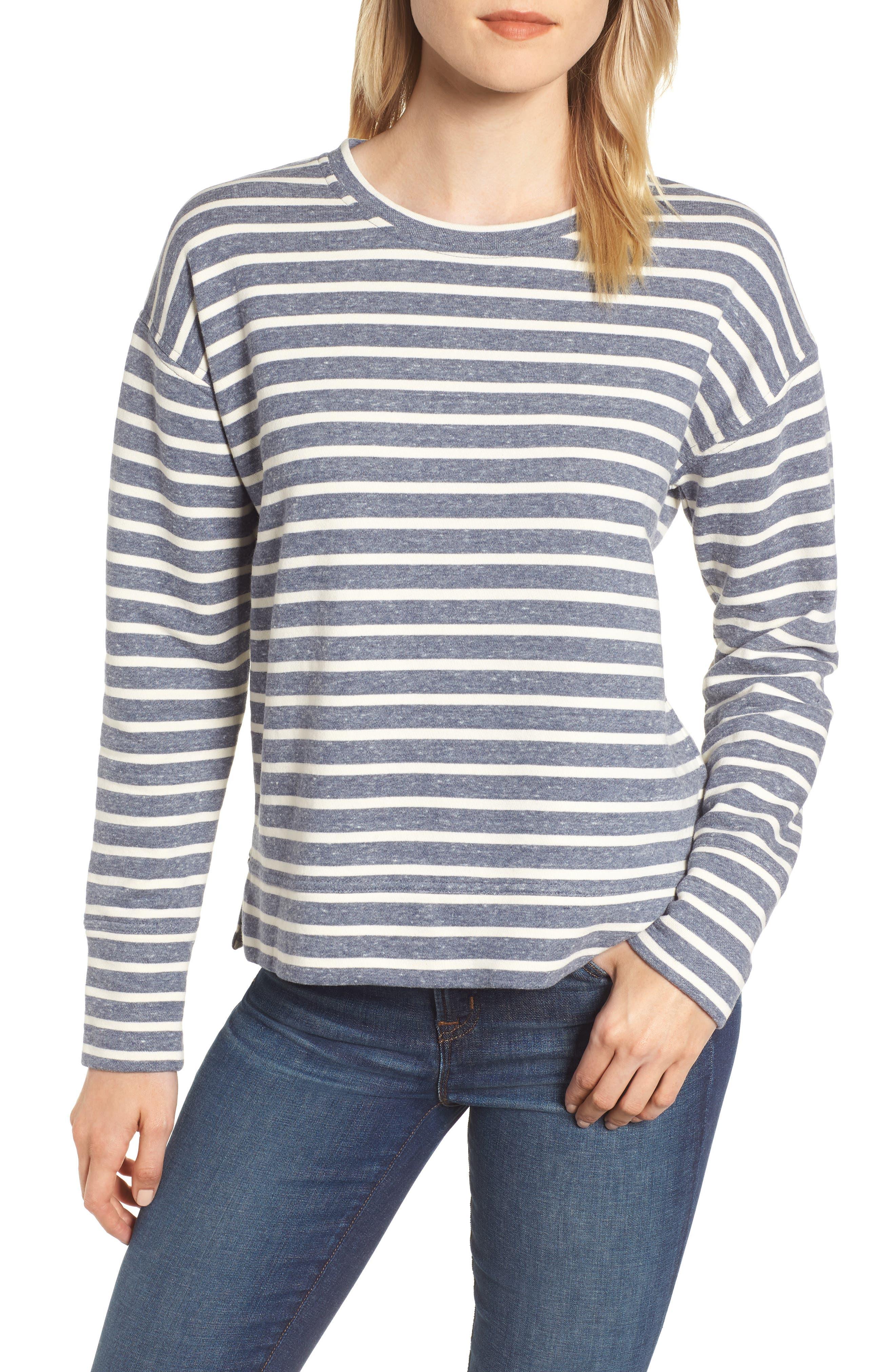 Stripe Sweatshirt,                         Main,                         color, 461