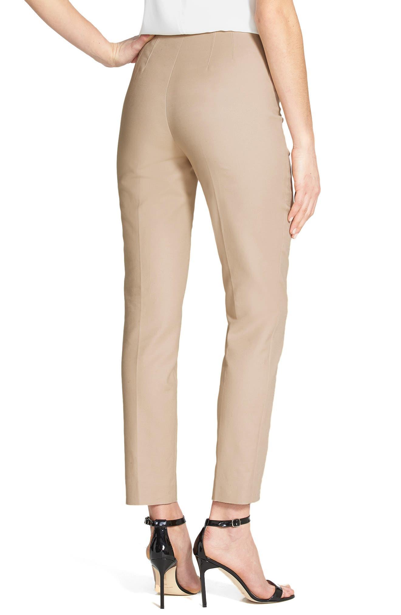 Side Zip Double Weave Pants,                             Alternate thumbnail 33, color,