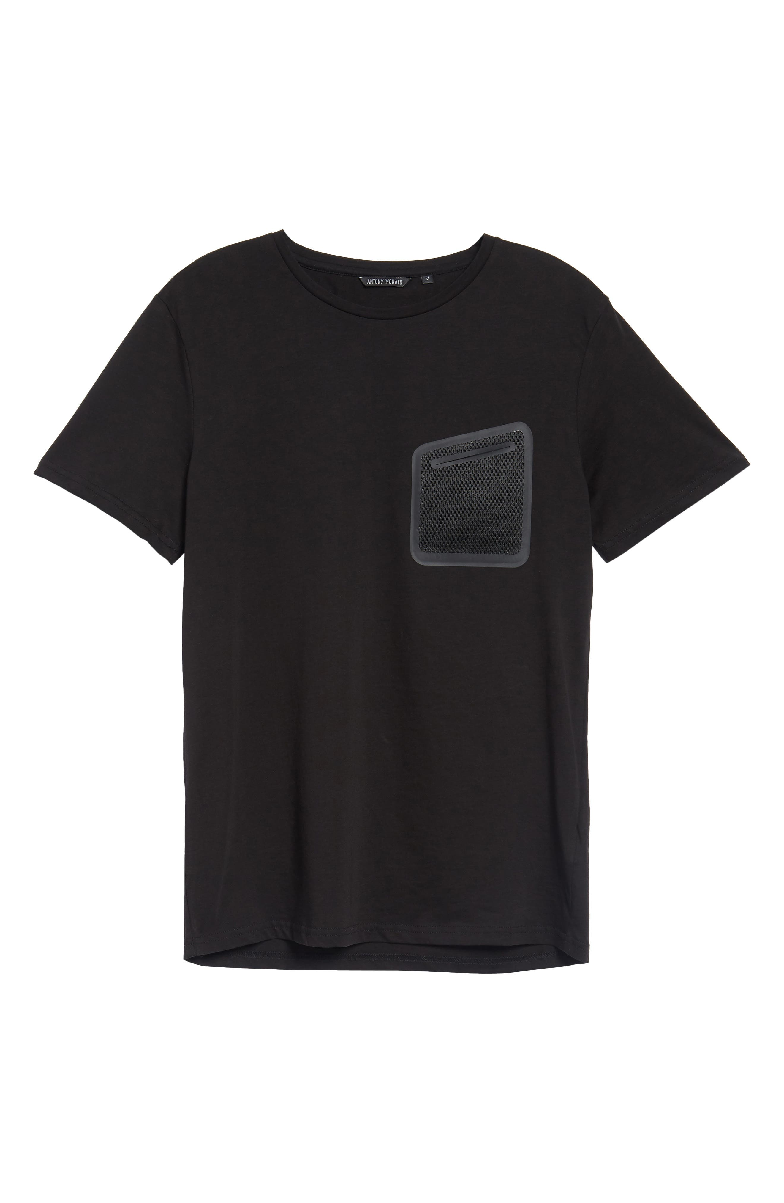 Mesh Pocket T-Shirt,                             Alternate thumbnail 6, color,                             001