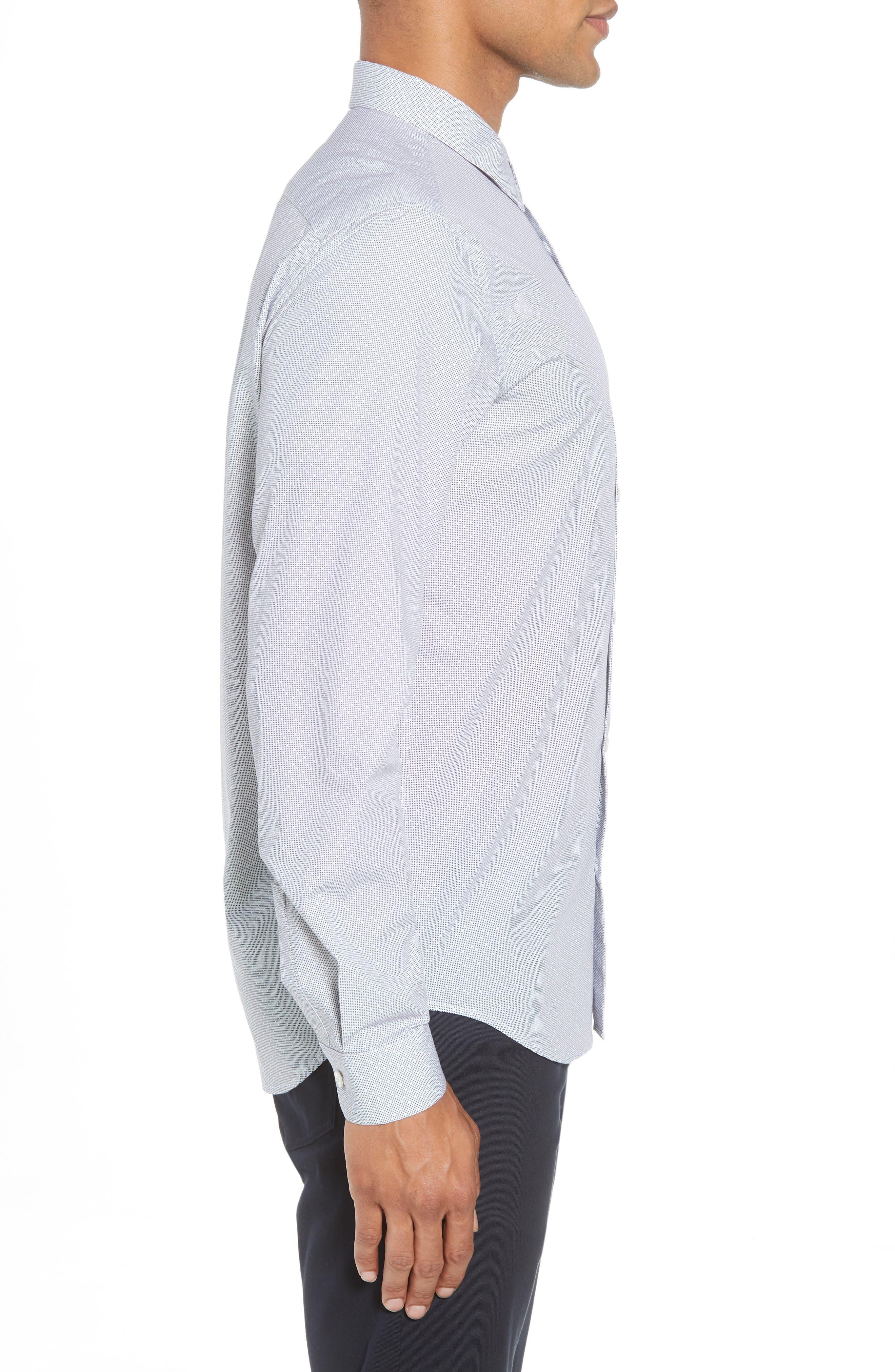 Murray Trim Fit Pixel Print Sport Shirt,                             Alternate thumbnail 3, color,                             ECLIPSE MULTI
