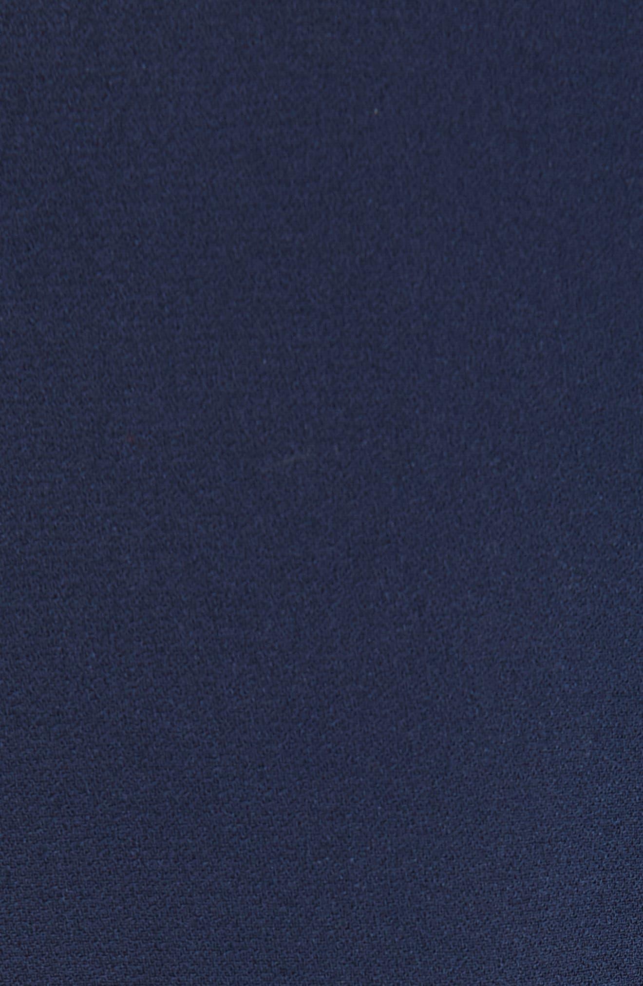 Delakety Asymmetrical A-Line Dress,                             Alternate thumbnail 6, color,                             DEEP BLUE FANTASY