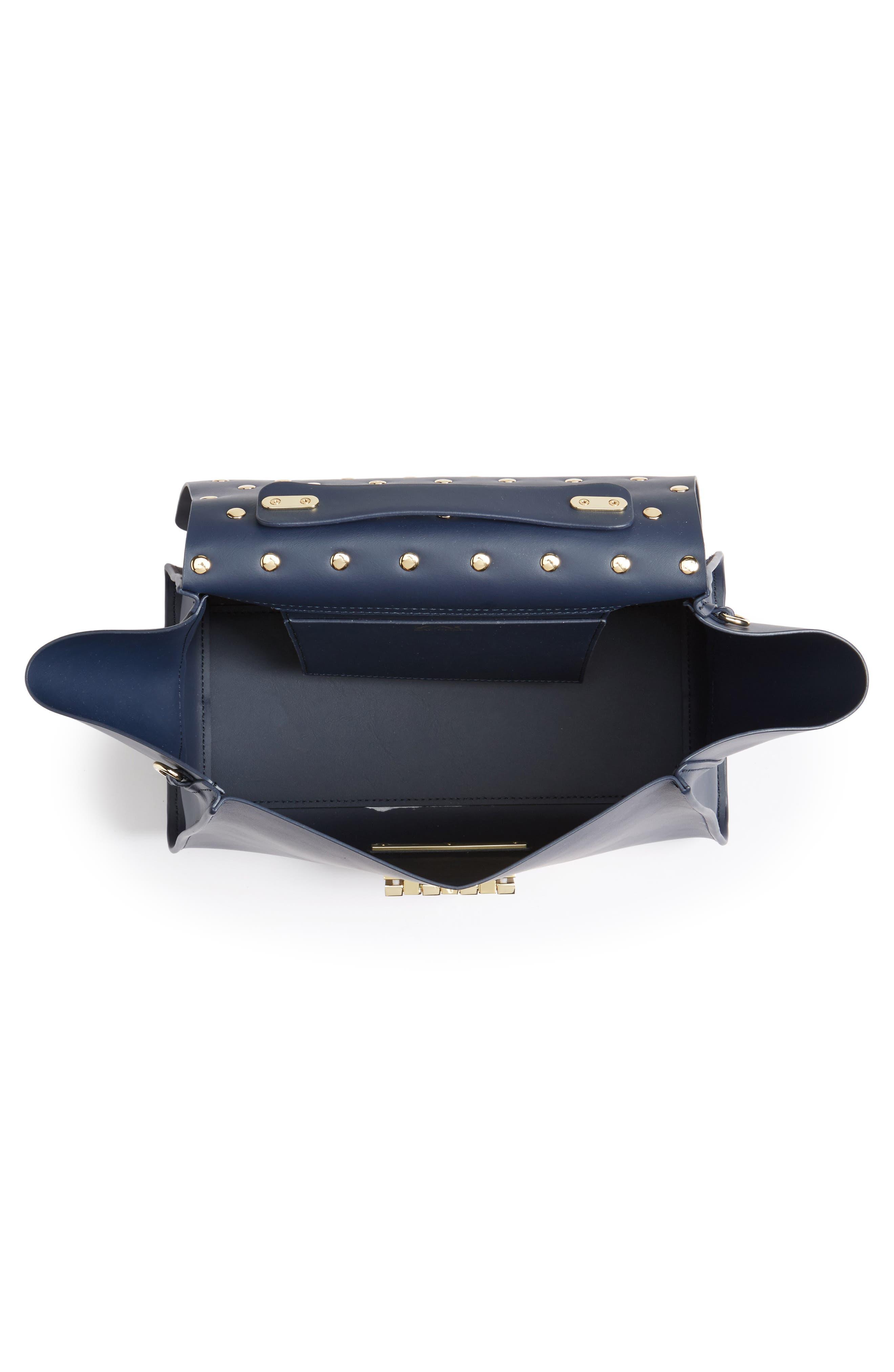 Eartha Iconic Leather Top Handle Satchel,                             Alternate thumbnail 4, color,                             401