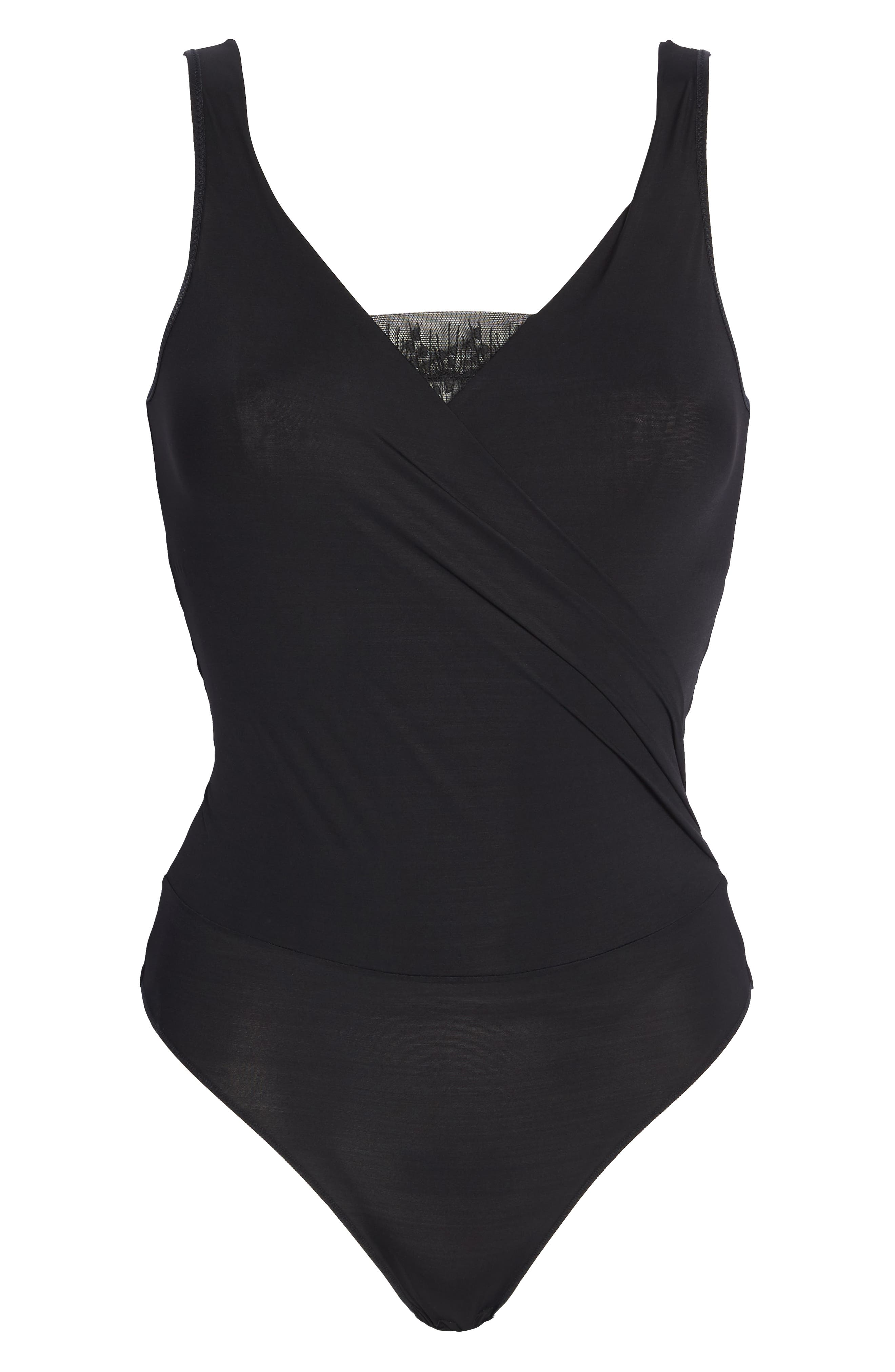Imprevue Bodysuit,                             Alternate thumbnail 6, color,                             001