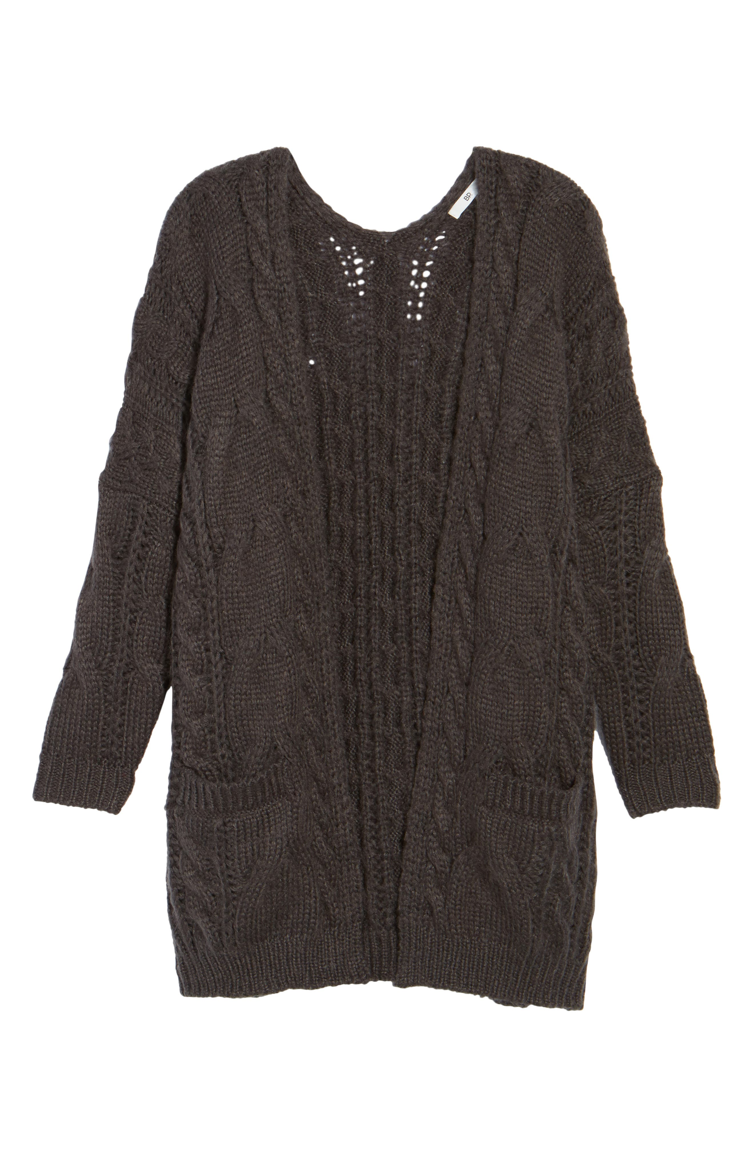 Cable Knit Cardigan,                             Alternate thumbnail 6, color,                             030