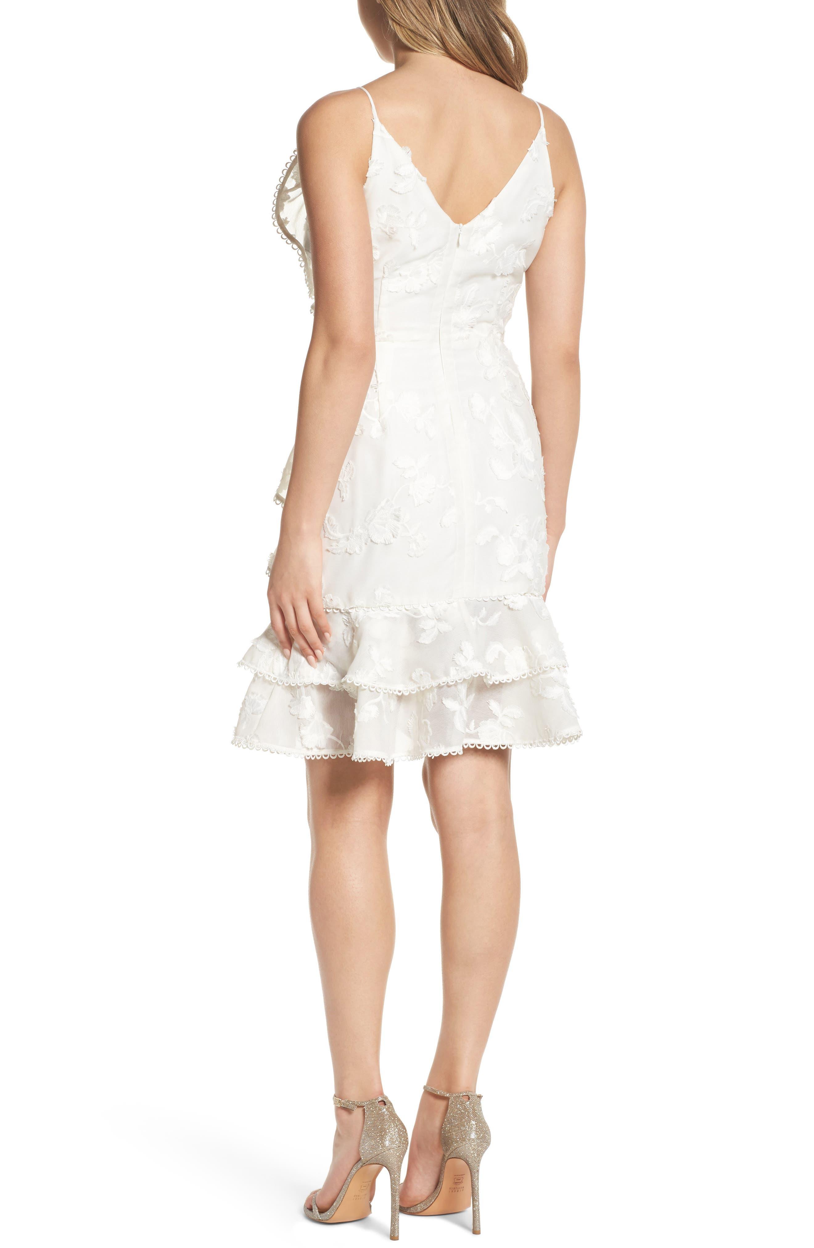 Shine Ruffle Lace Dress,                             Alternate thumbnail 2, color,                             900