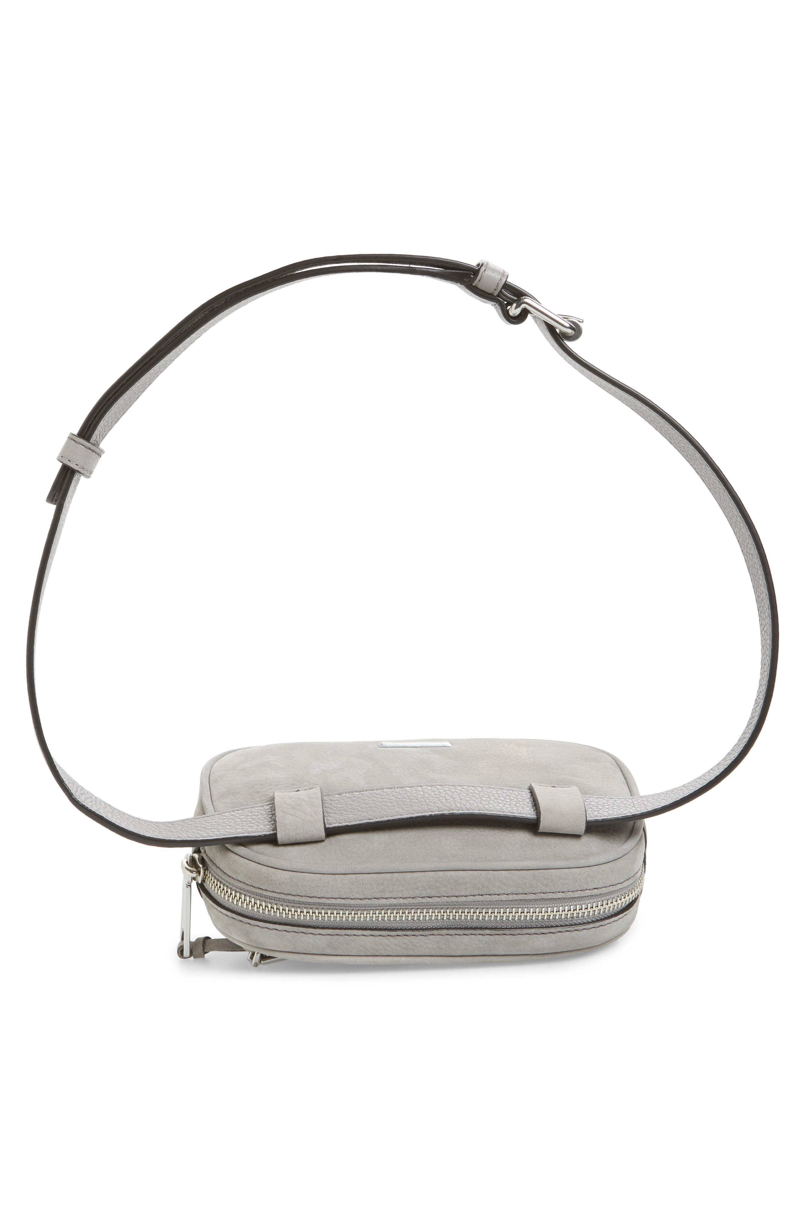 Blythe Leather Belt Bag,                             Alternate thumbnail 7, color,                             GREY