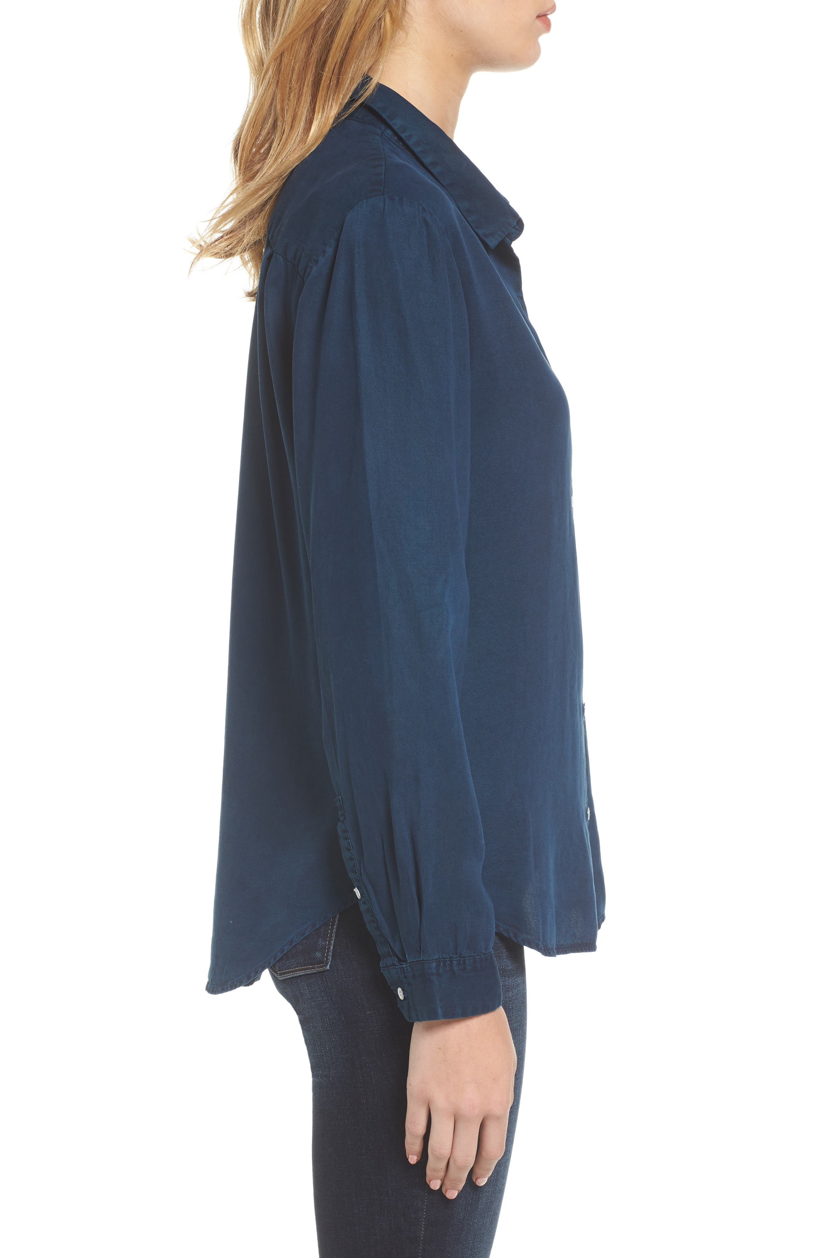 x The Blue Shirt Shop W 4th & Jane Slim Fit Shirt,                             Alternate thumbnail 3, color,                             405