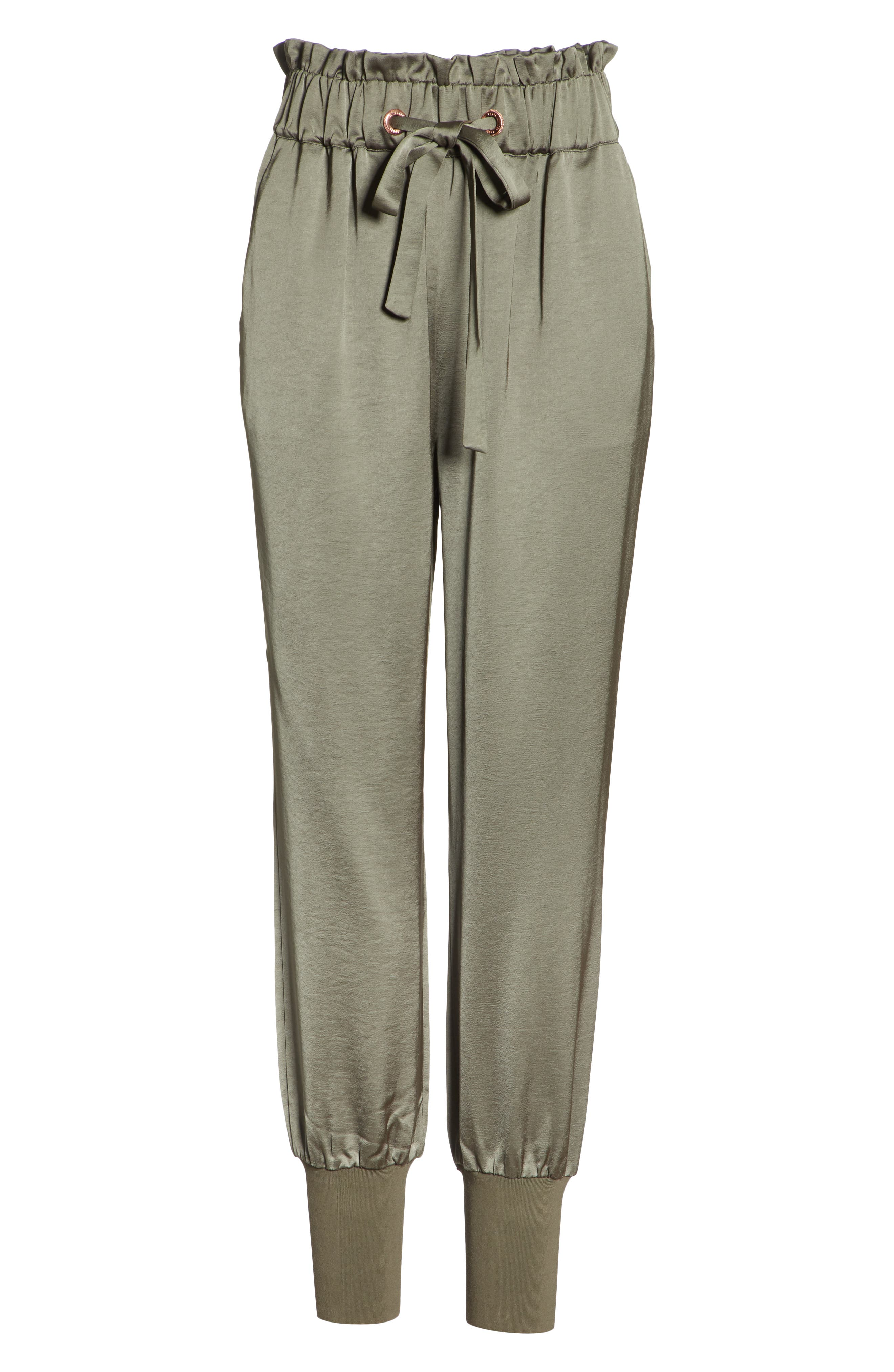 Nayarmi Paperbag Waist Jogger Pants,                             Alternate thumbnail 6, color,                             312