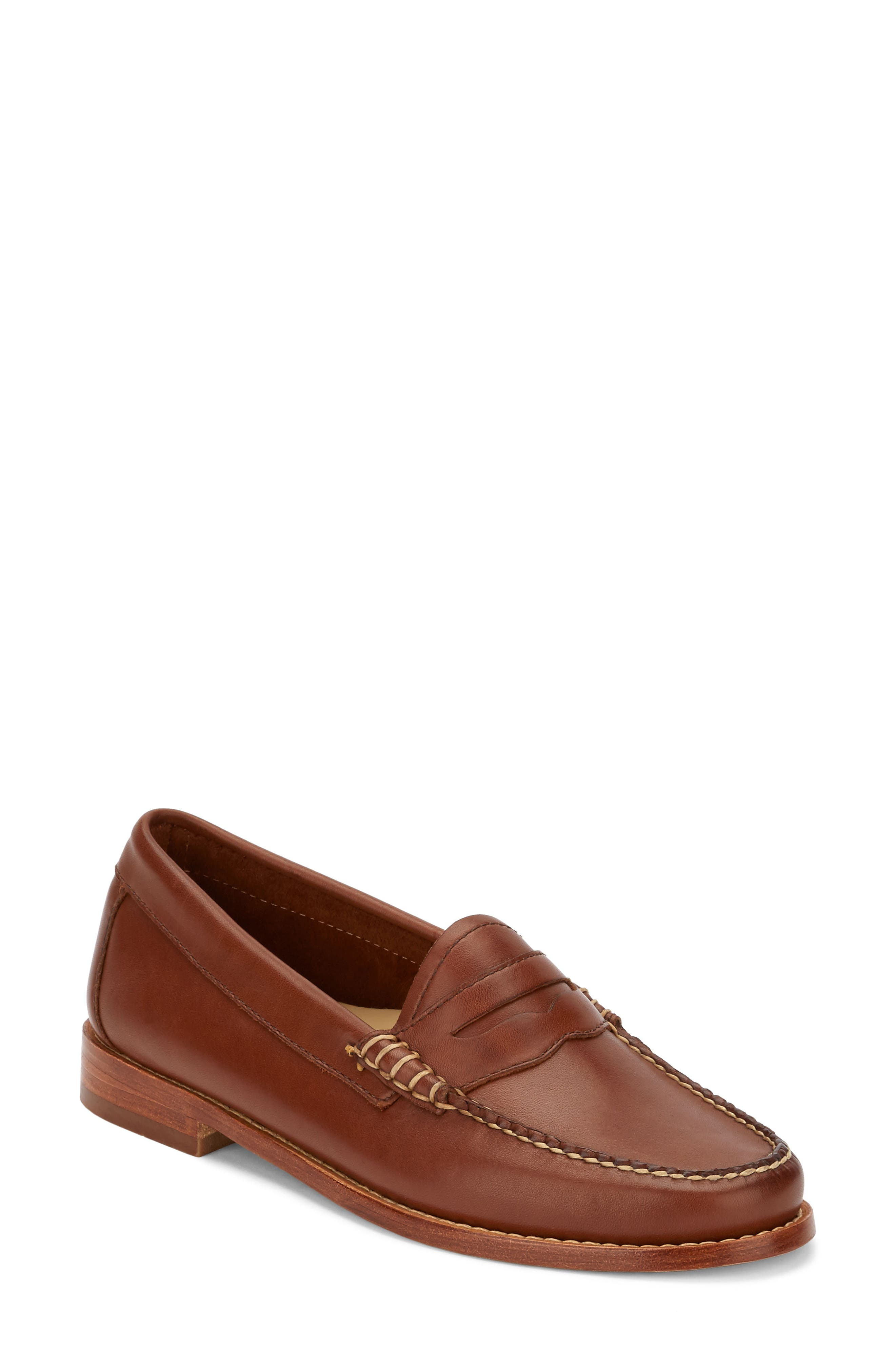 'Whitney' Loafer,                             Main thumbnail 1, color,                             COGNAC LEATHER