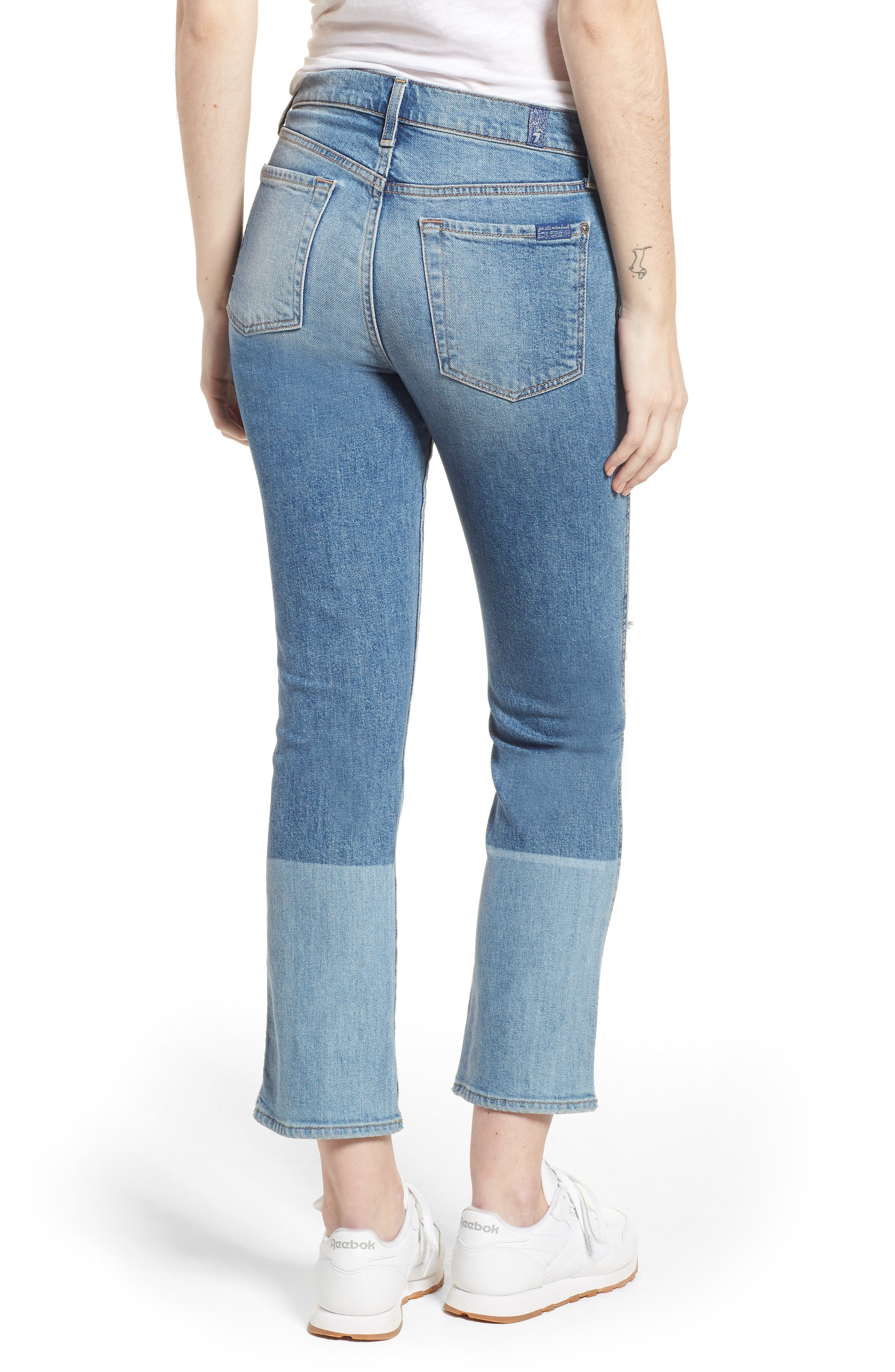 Edie High Waist Crop Straight Leg Jeans,                             Alternate thumbnail 8, color,
