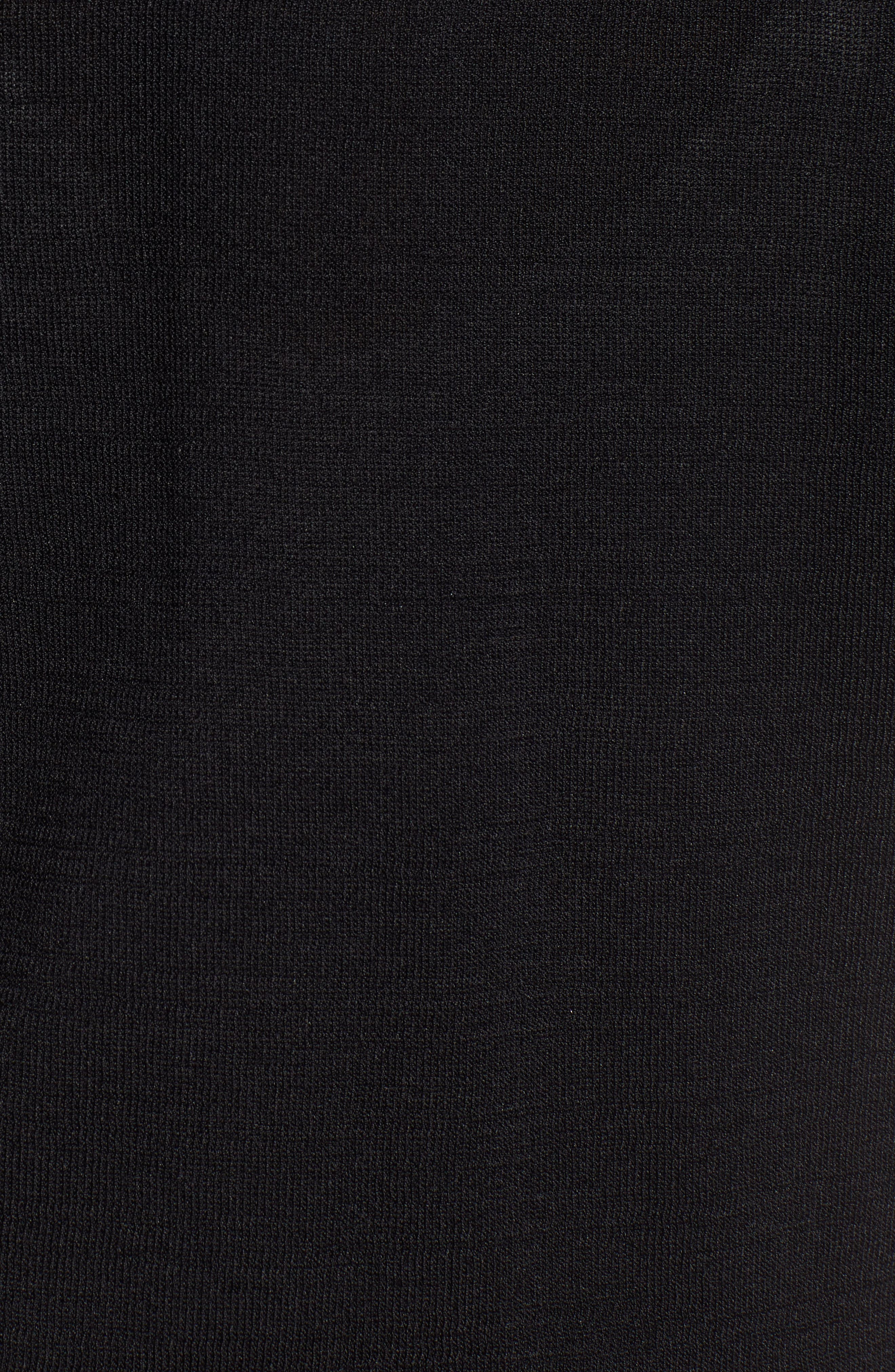 LEITH,                             Slim Cardigan,                             Alternate thumbnail 5, color,                             BLACK