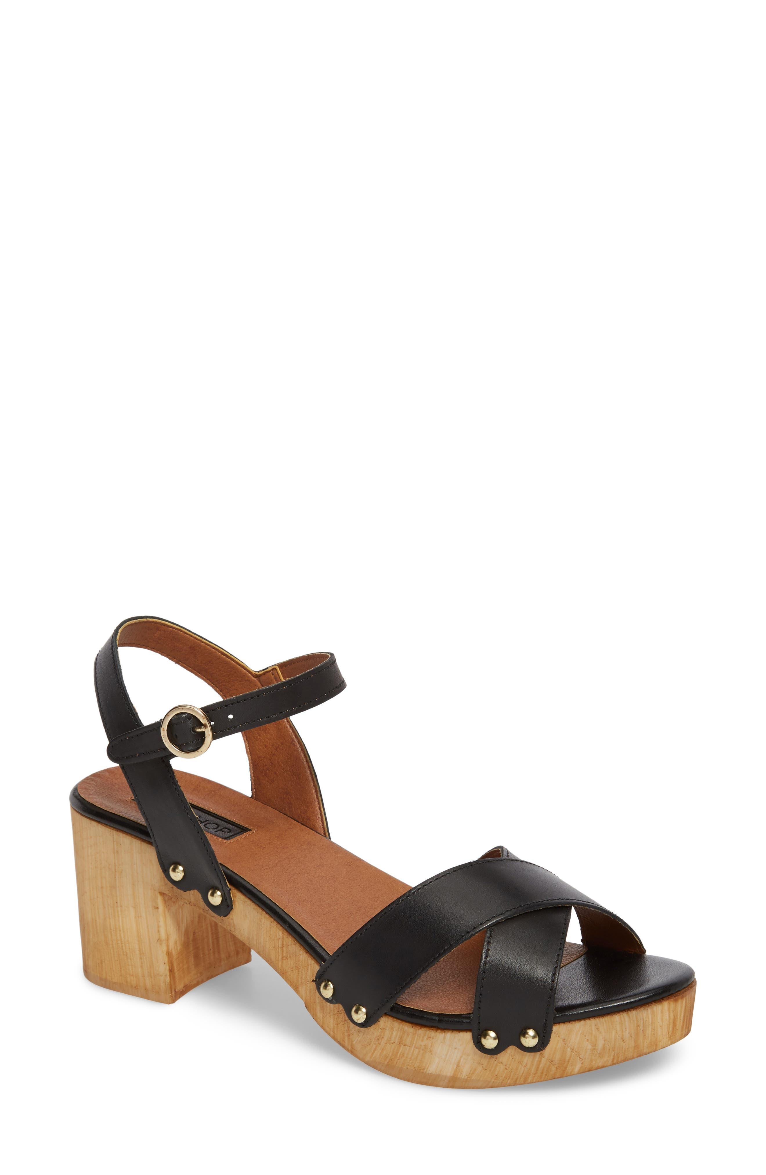 Valerie Platform Sandal,                         Main,                         color, 001