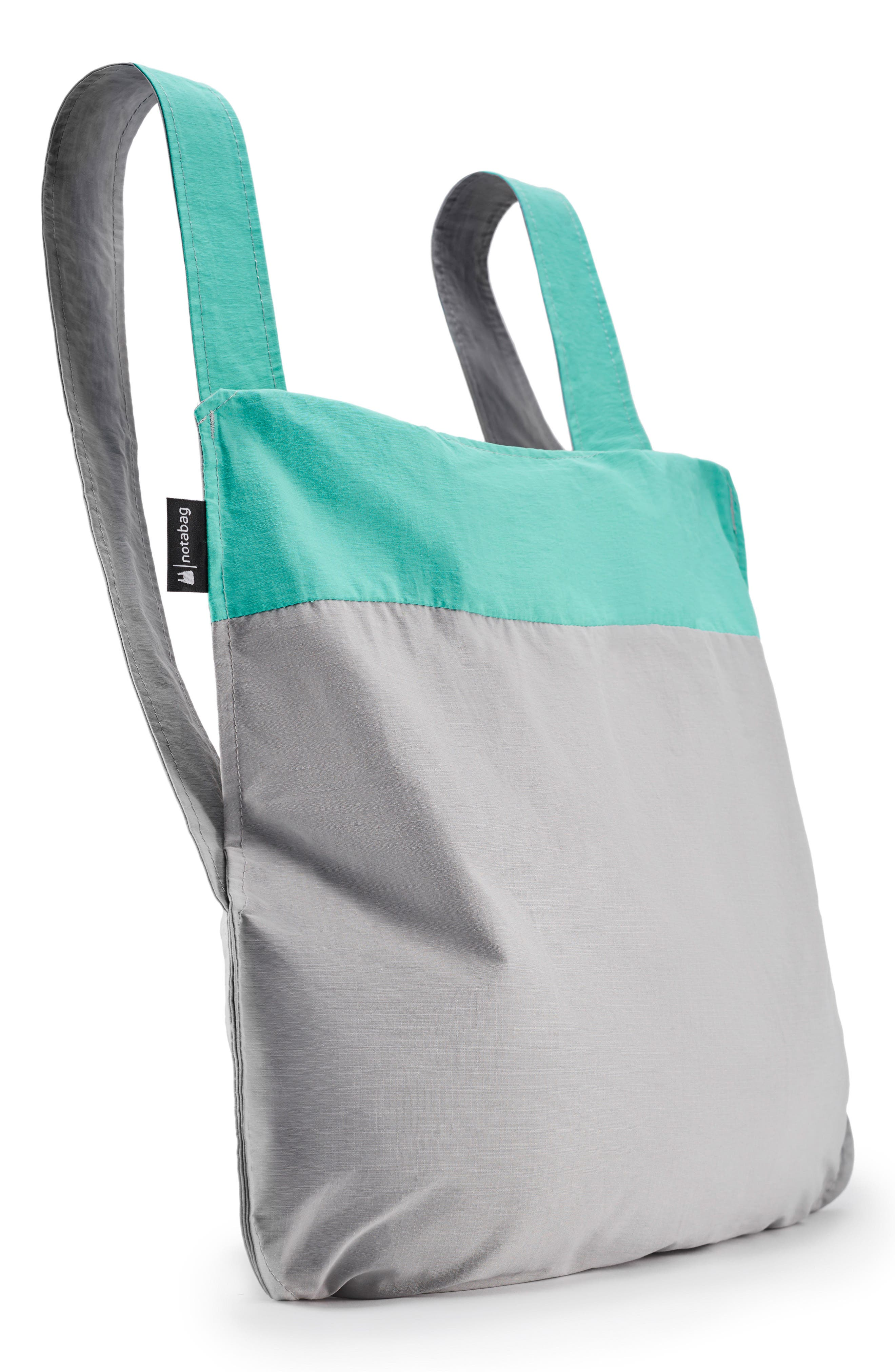 NOTABAG Convertible Tote Backpack, Main, color, MINT/ GREY