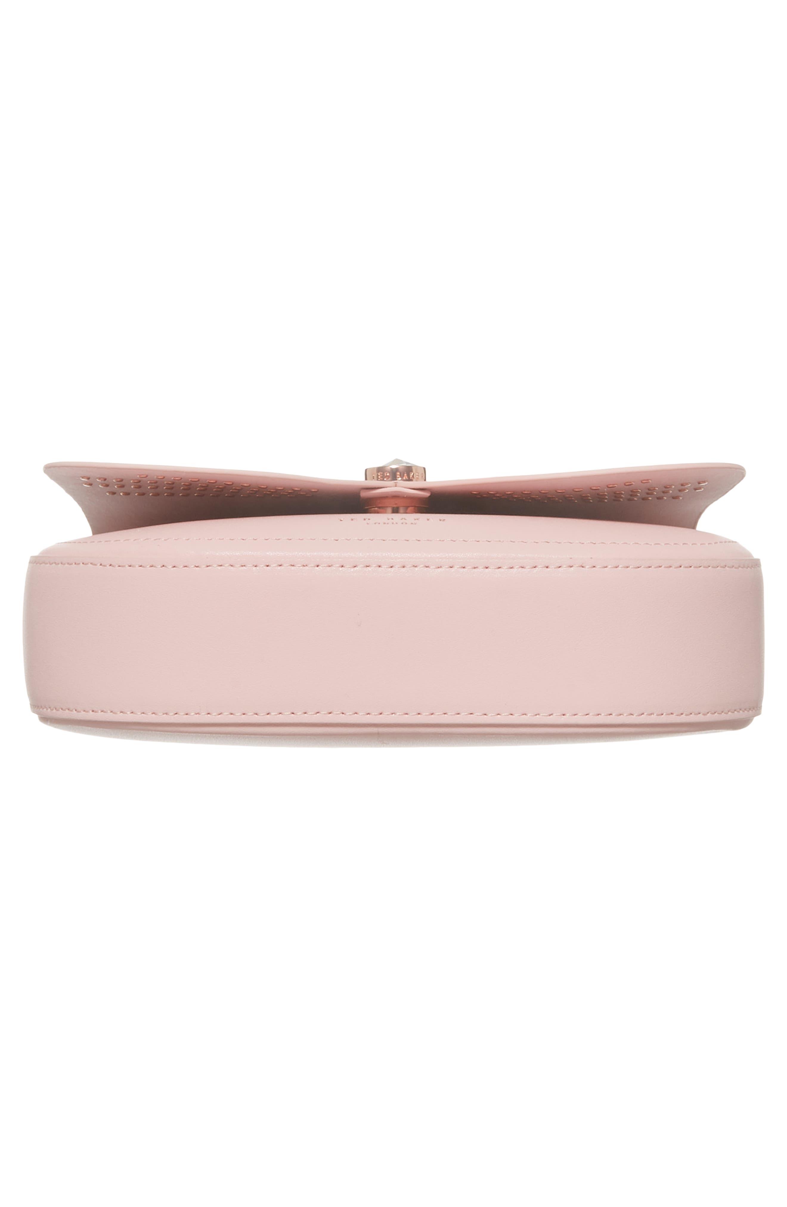 Chriiss Cat Stud Leather Crossbody Bag,                             Alternate thumbnail 17, color,