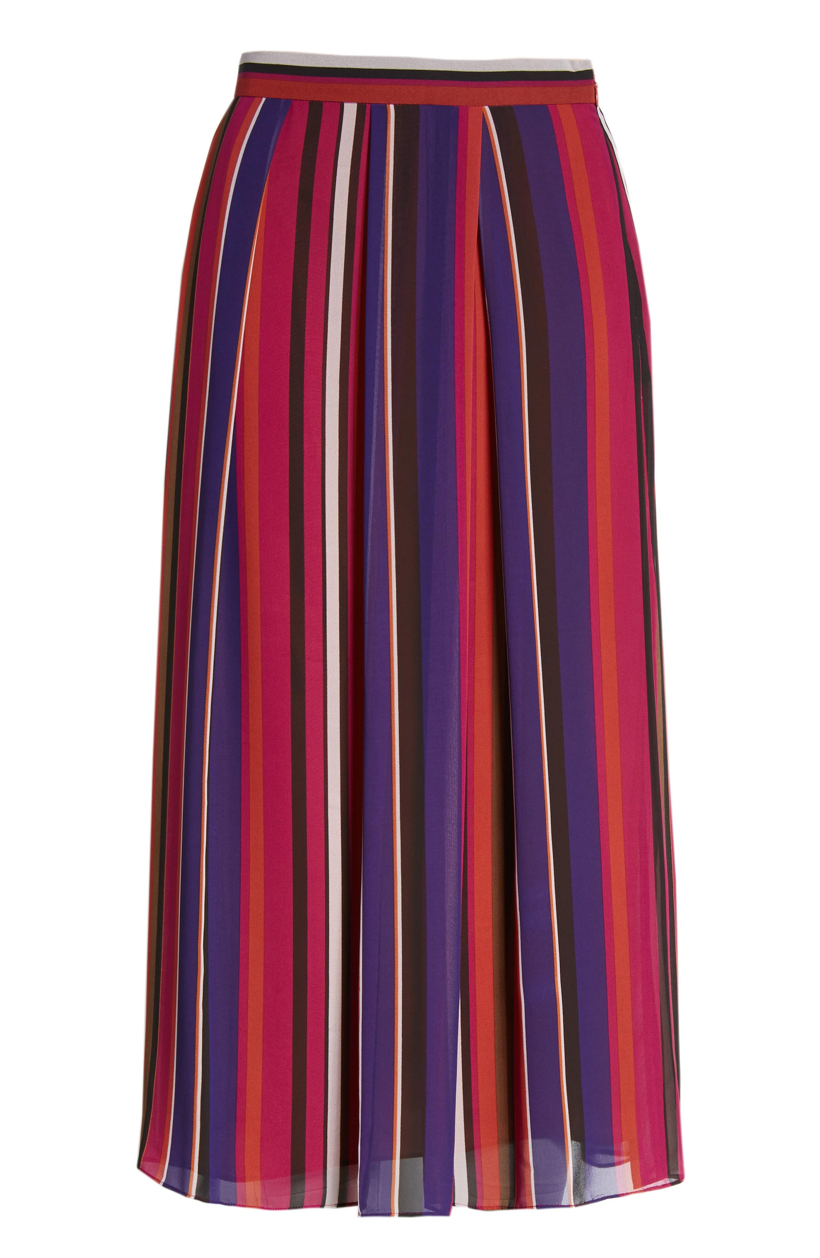 Striped Midi Skirt,                             Alternate thumbnail 6, color,