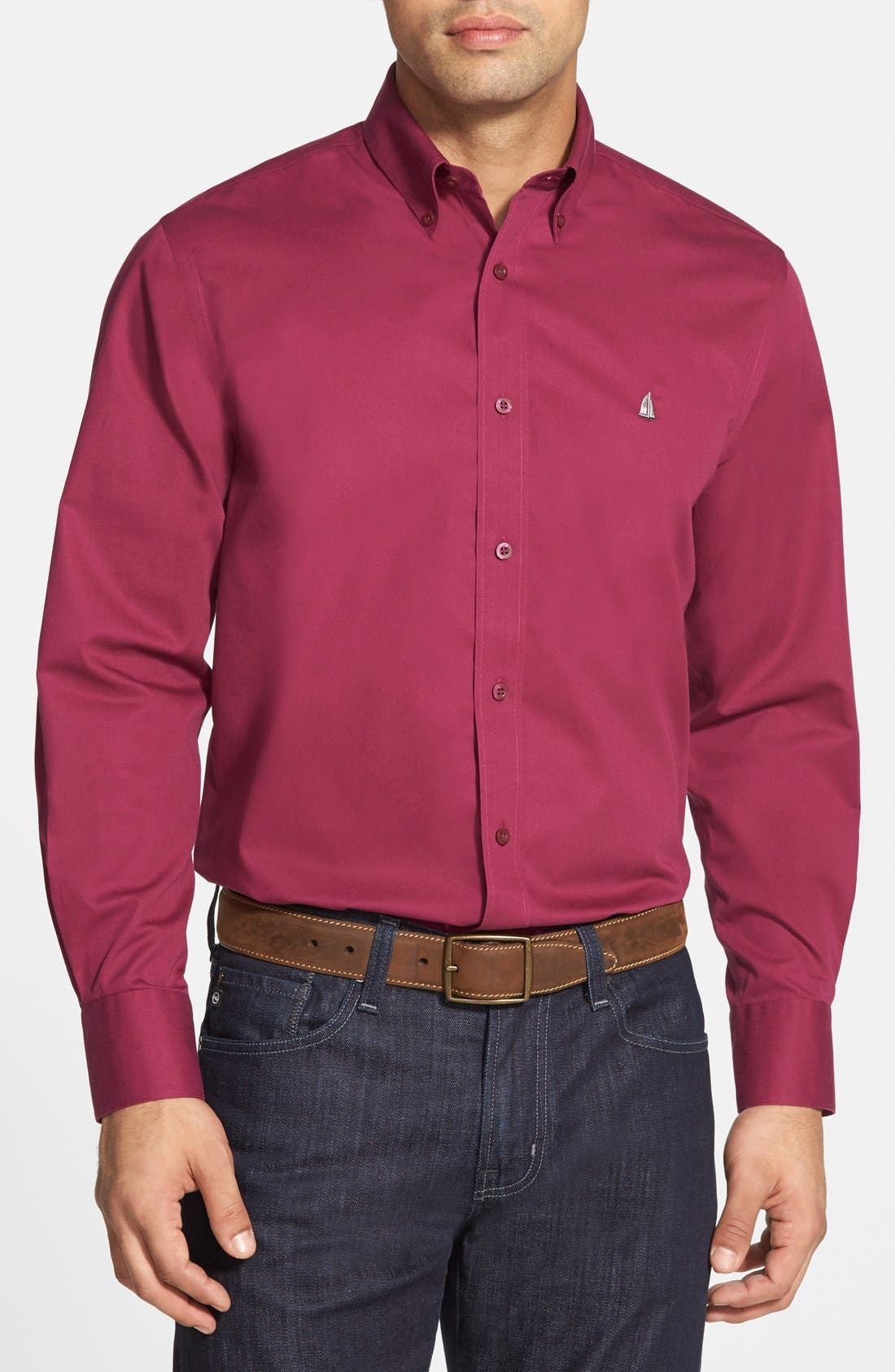 Smartcare<sup>™</sup> Traditional Fit Twill Boat Shirt,                             Main thumbnail 31, color,